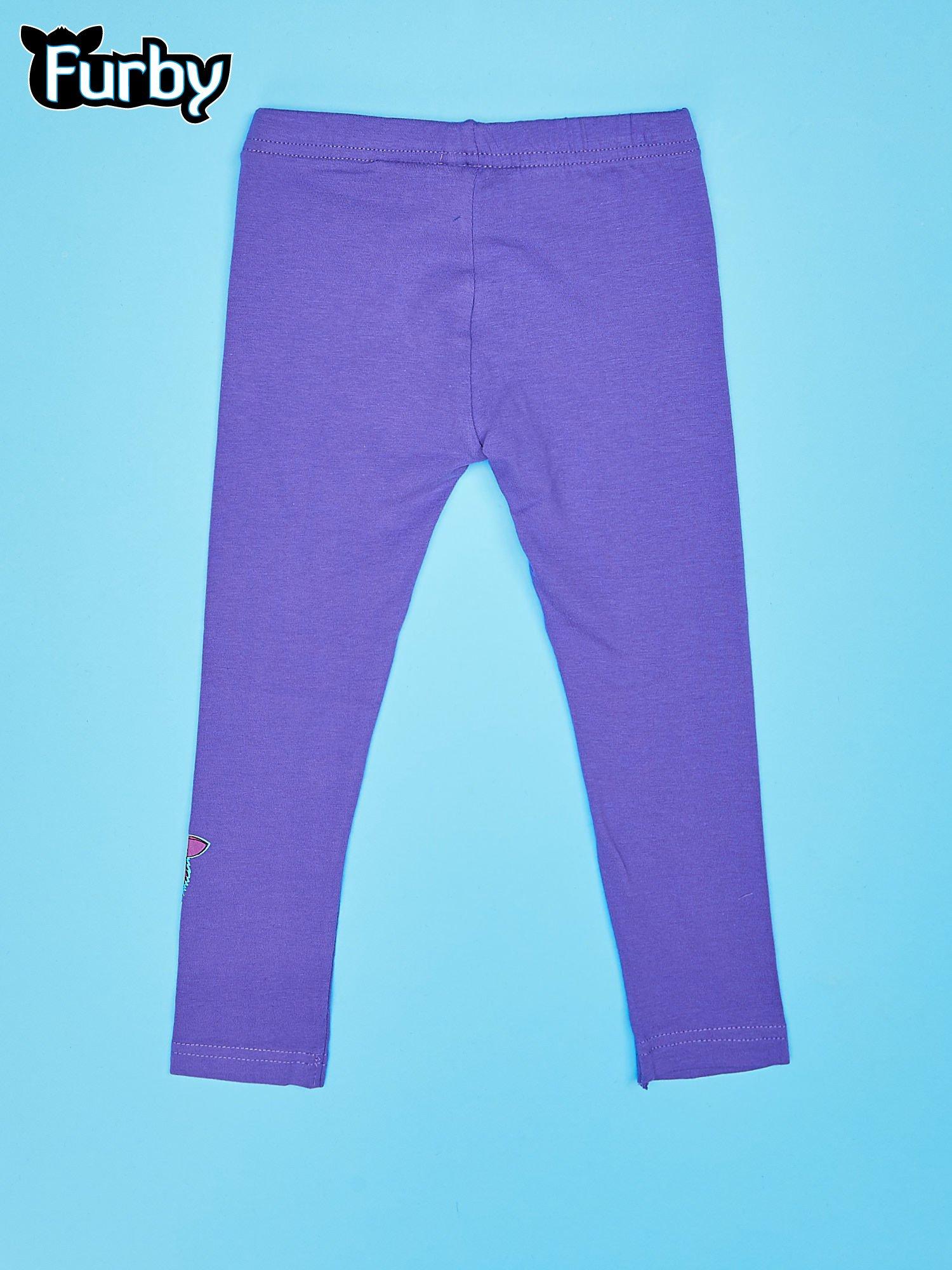 Fioletowe legginsy dla dziewczynki FURBY                                  zdj.                                  2