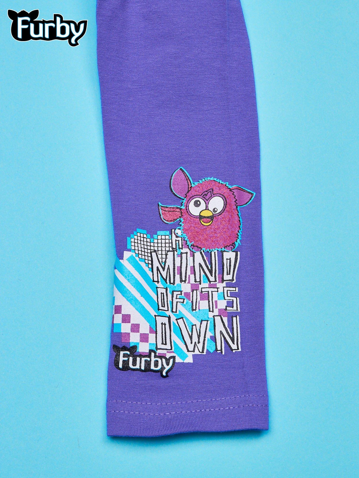 Fioletowe legginsy dla dziewczynki FURBY                                  zdj.                                  4