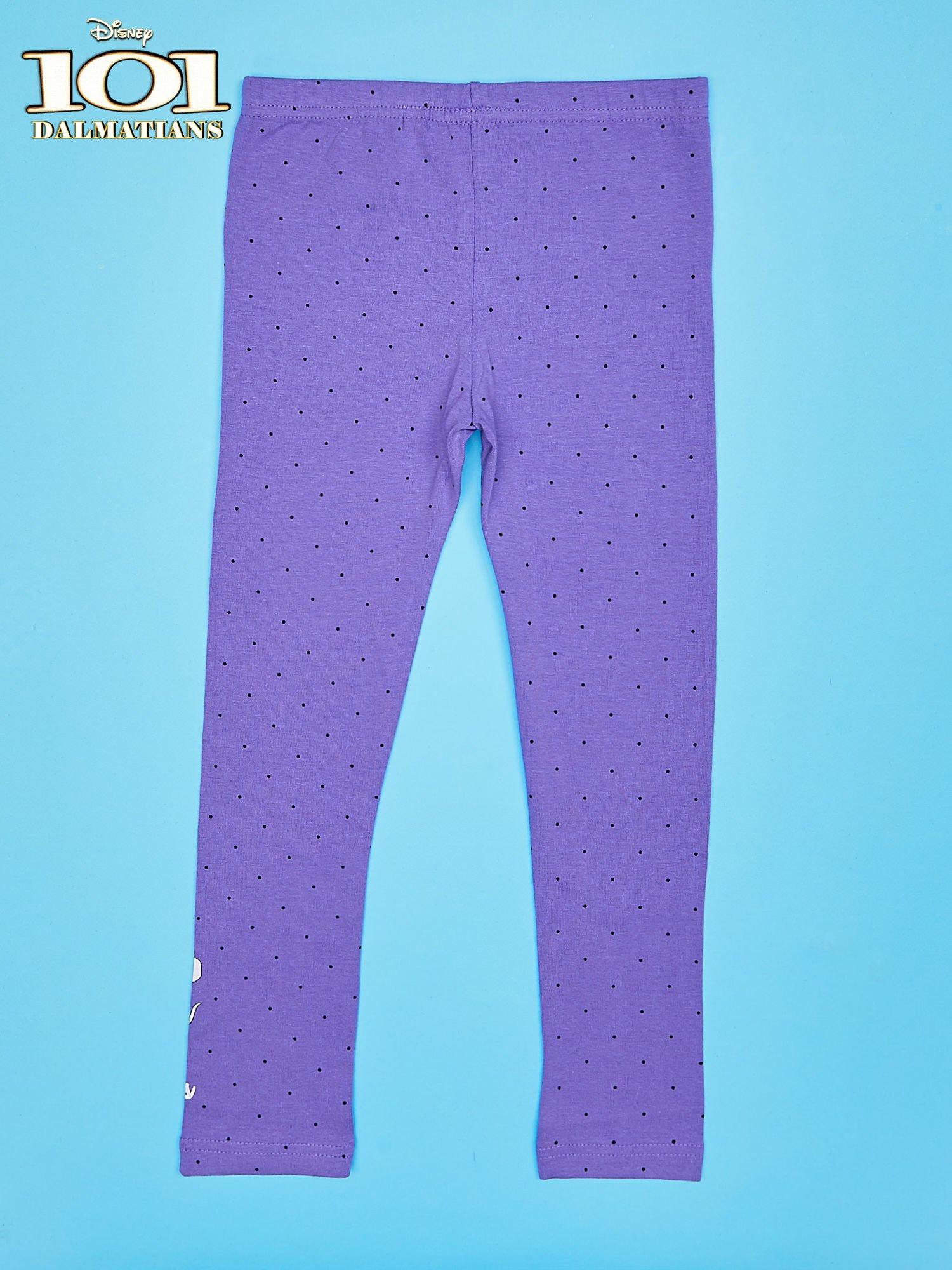 Fioletowe legginsy w kropki dla dziewczynki 101 DALMATYŃCZYKÓW                                  zdj.                                  2
