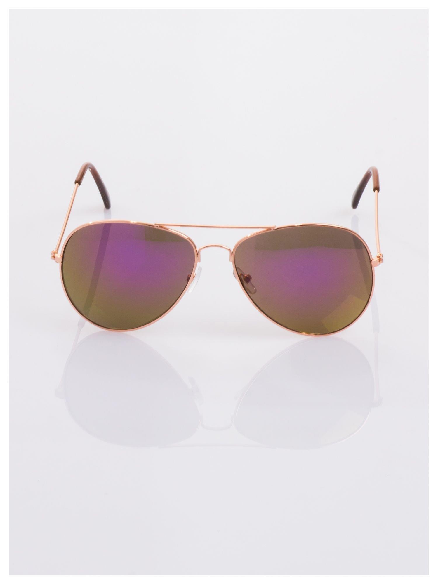 Fioletowe okulary przeciwsłoneczne pilotki AVIATORY                                  zdj.                                  4