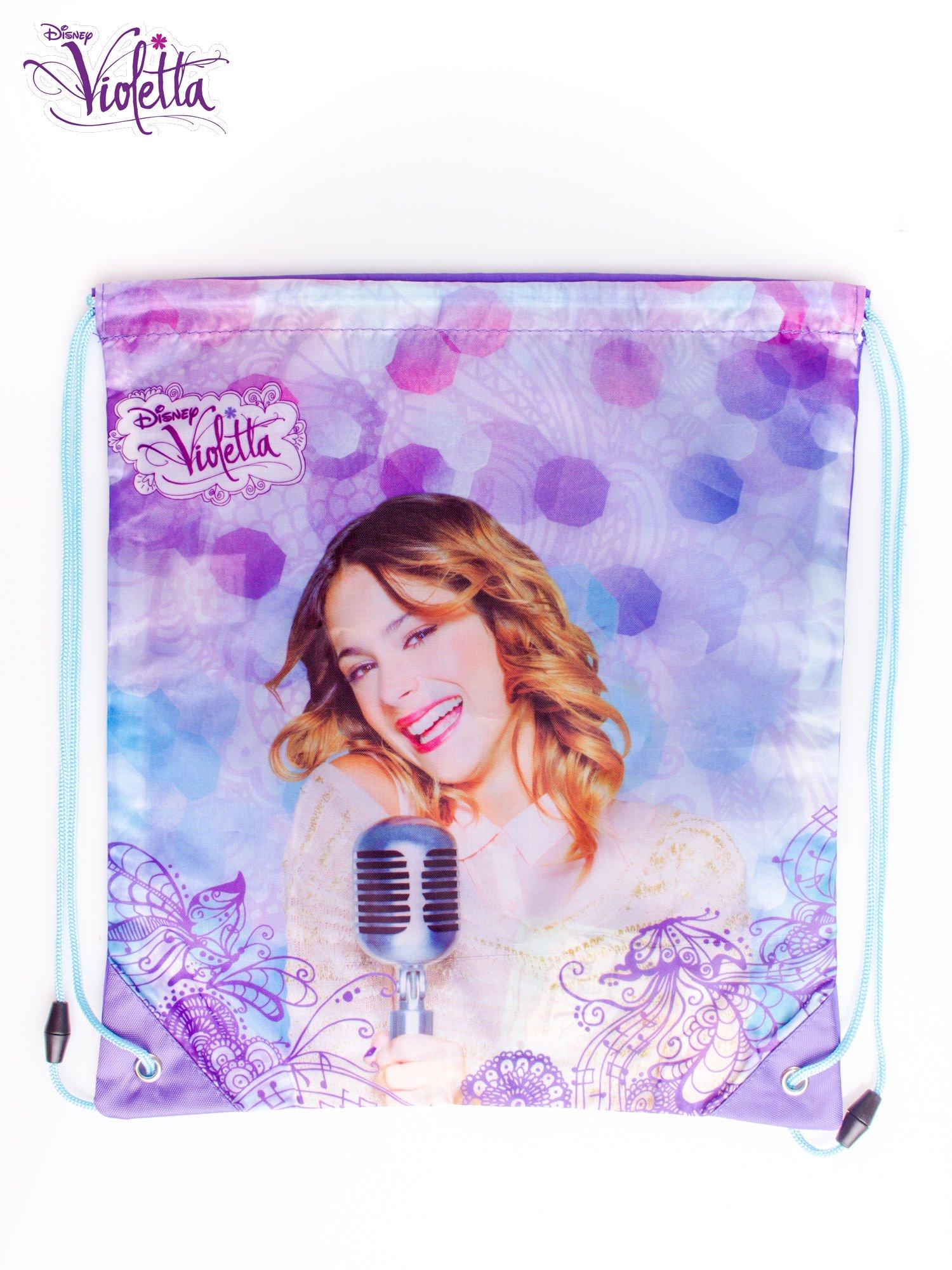Fioletowy plecak worek DISNEY Violetta                                  zdj.                                  3