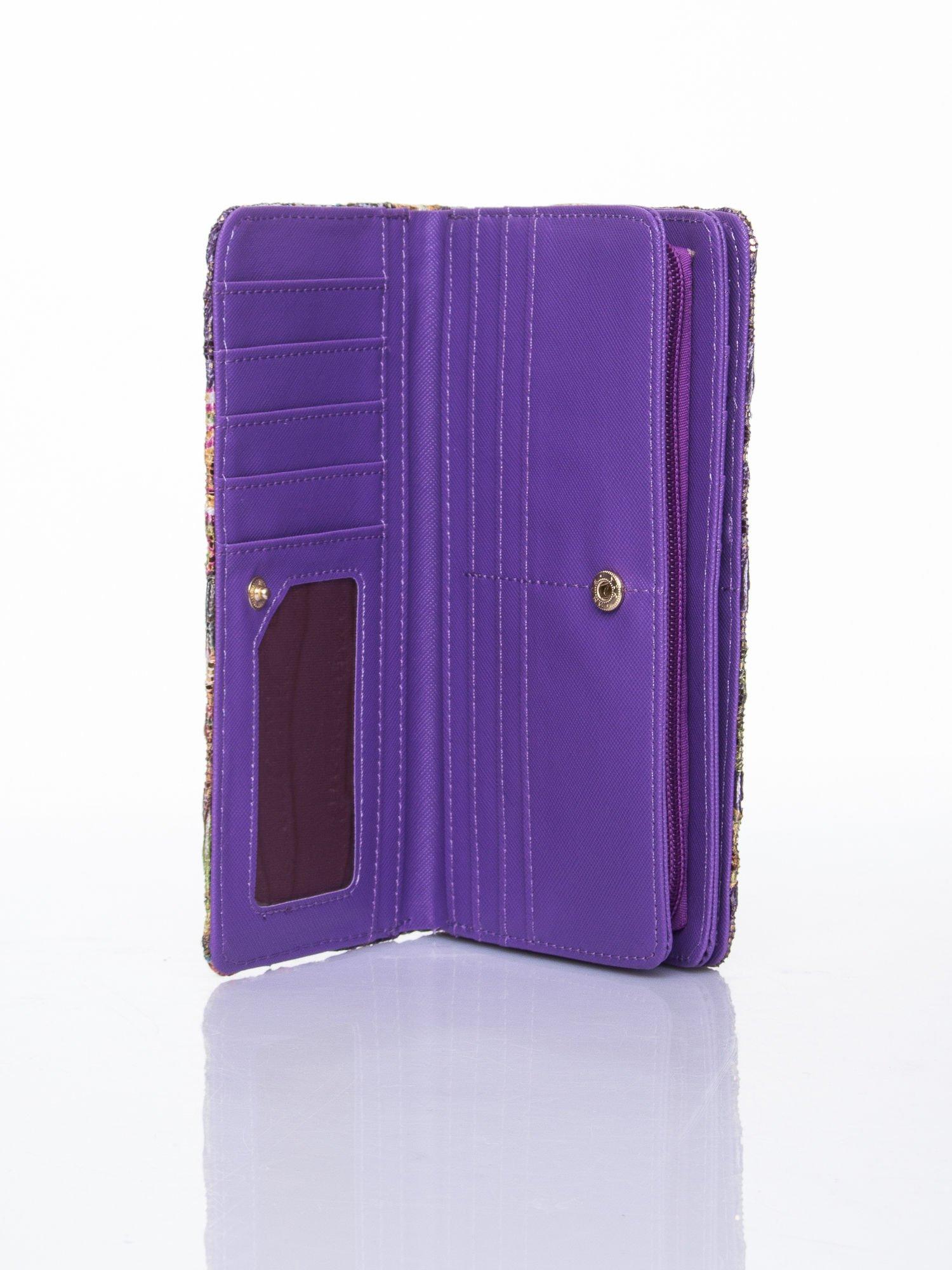 Fioletowy portfel z nadrukiem paisley                                  zdj.                                  4