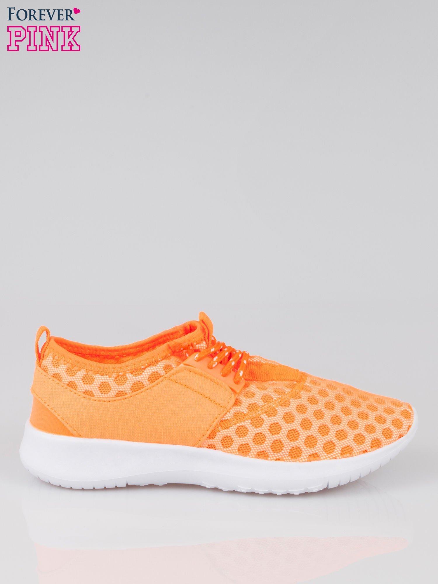 Fluopomarańczowe buty sportowe textile Drive Me Crazy z siateczki na podeszwie flex                                  zdj.                                  1