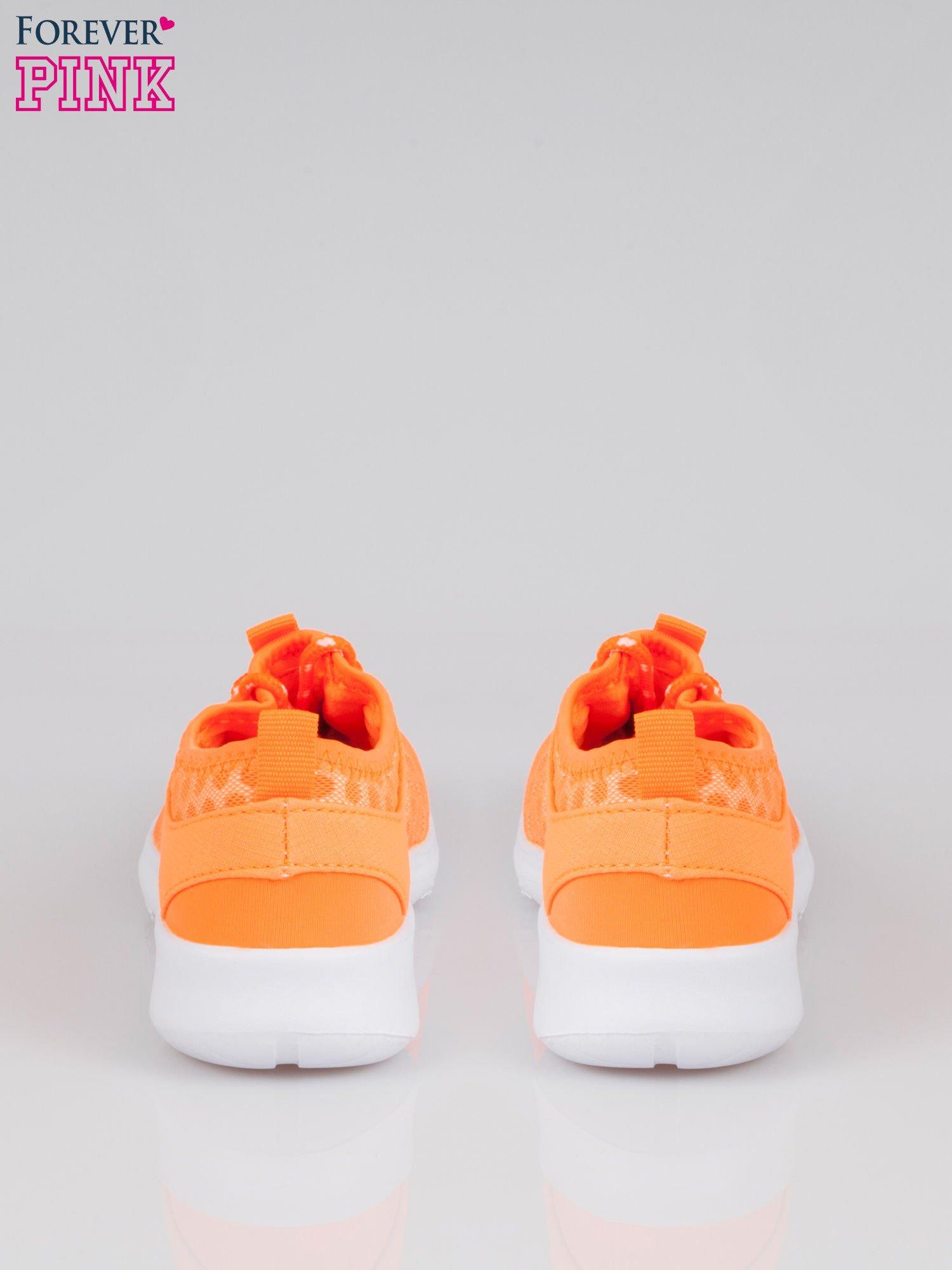 Fluopomarańczowe buty sportowe textile Drive Me Crazy z siateczki na podeszwie flex                                  zdj.                                  3