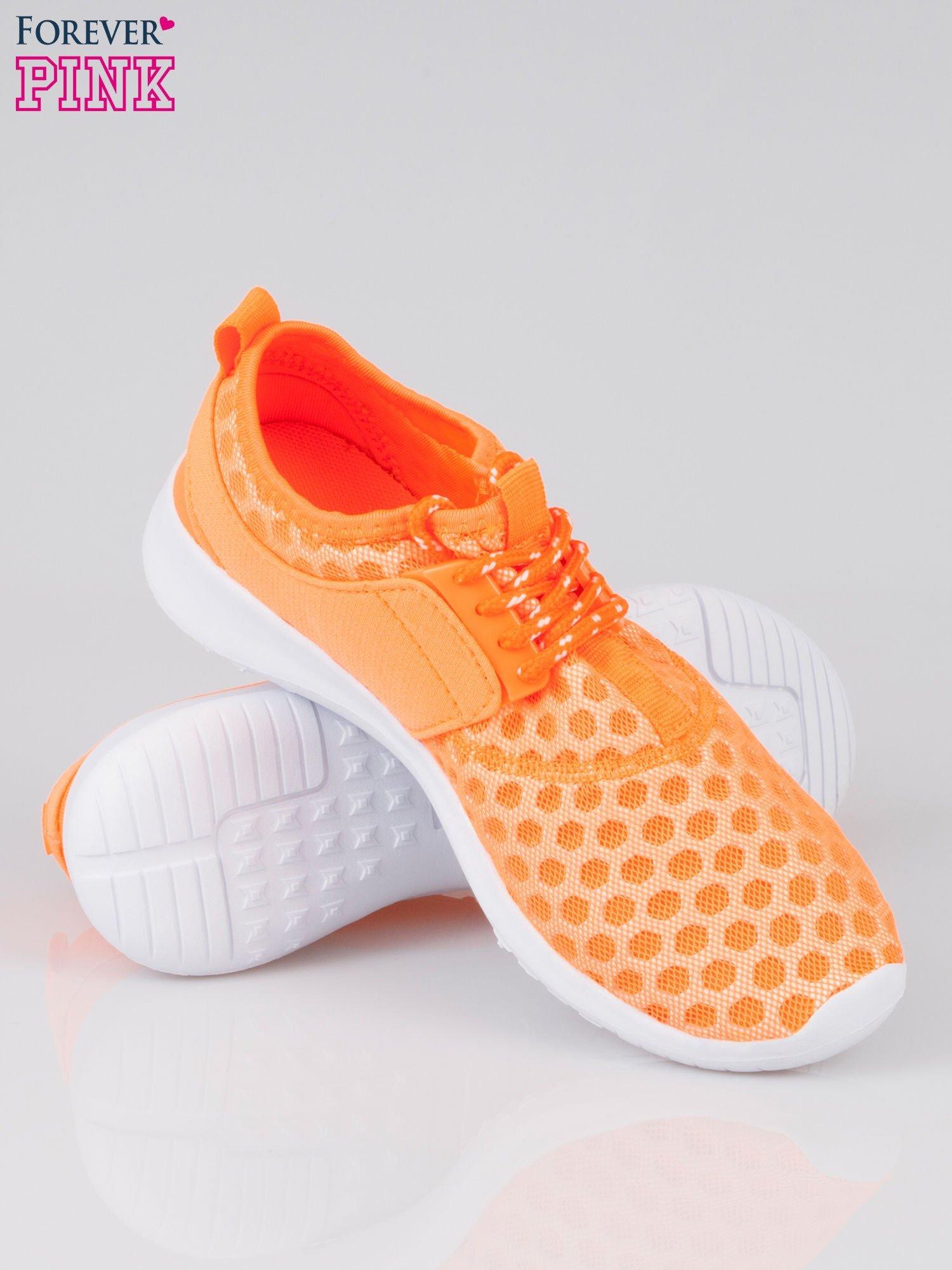 Fluopomarańczowe buty sportowe textile Drive Me Crazy z siateczki na podeszwie flex                                  zdj.                                  4