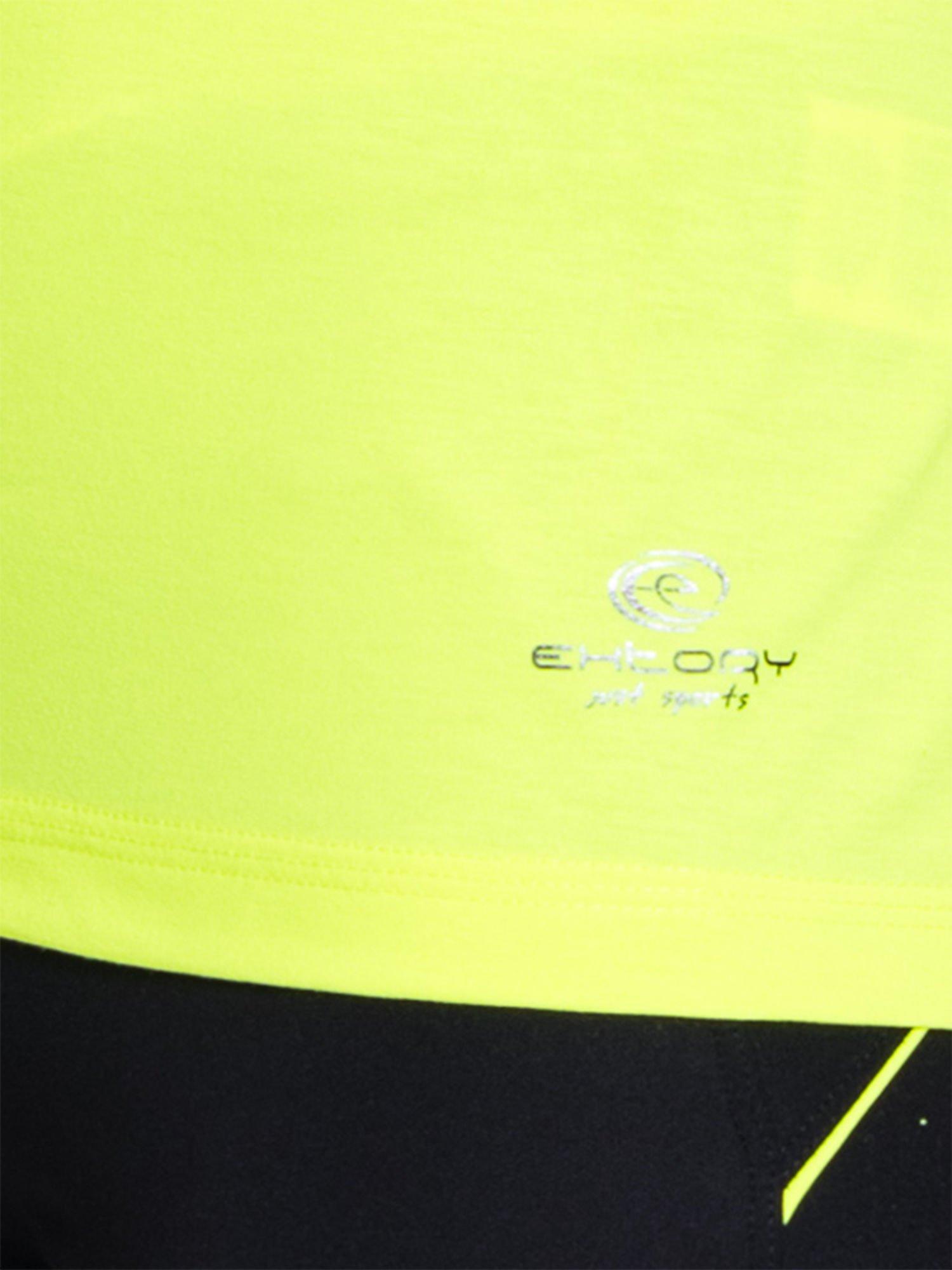 Fluożółty t-shirt sportowy z kieszonką na suwak PLUS SIZE                                  zdj.                                  5