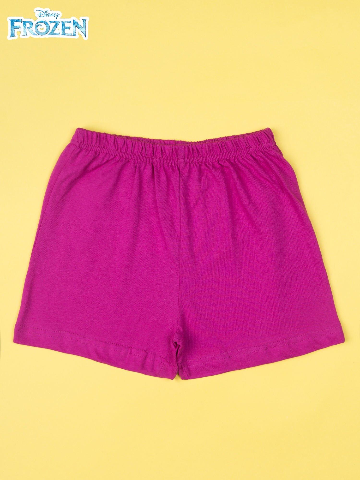 Fuksjowa piżama dla dziewczynki KRAINA LODU                                  zdj.                                  4