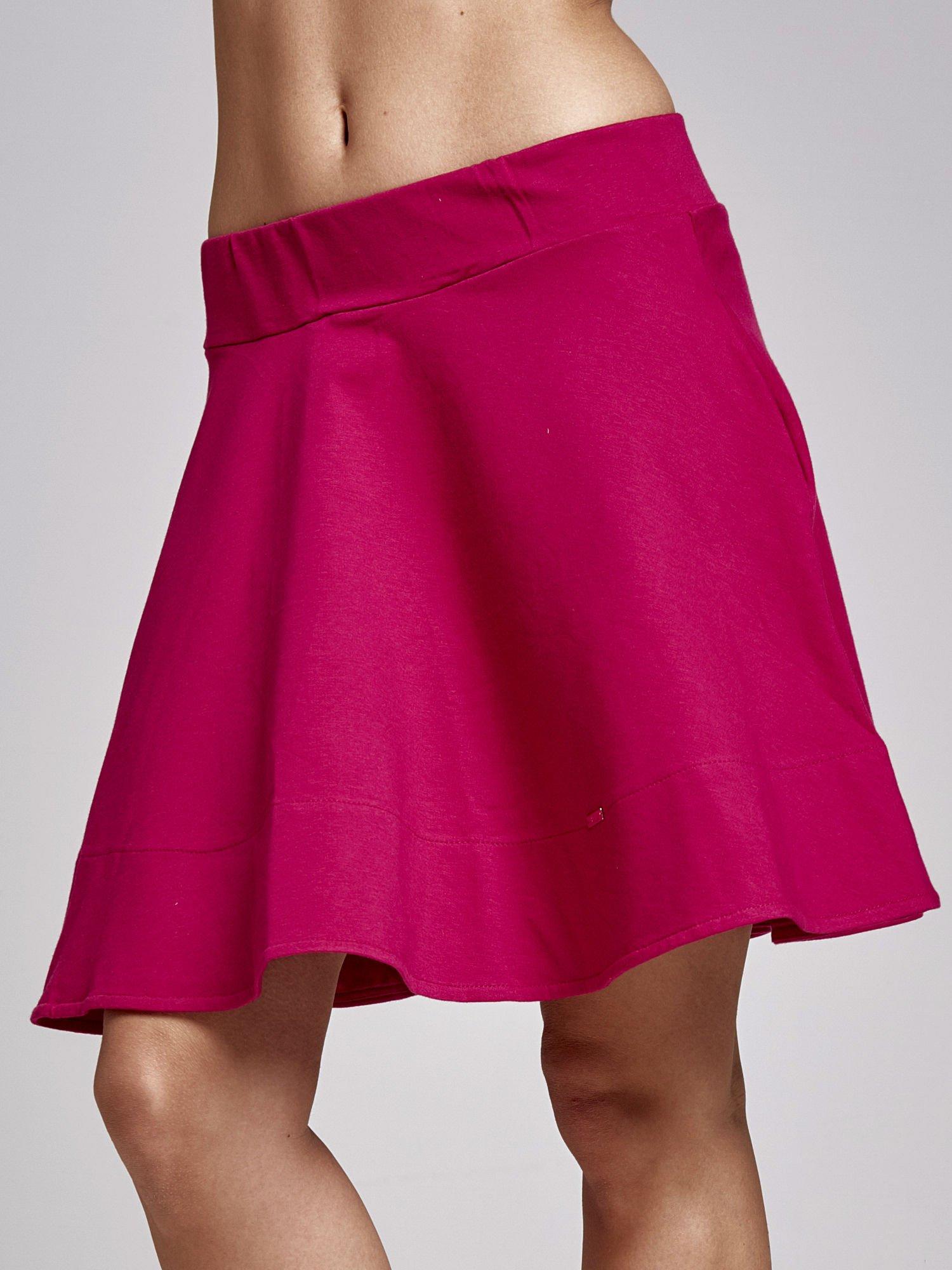 Fuksjowa spódnica dresowa skater                                  zdj.                                  1