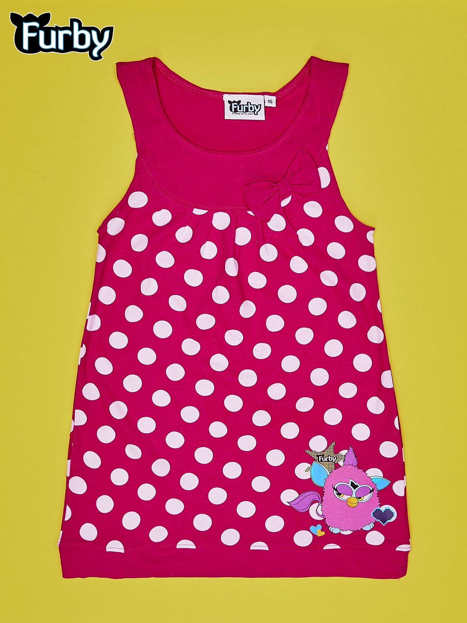 Fuksjowa sukienka w groszki dla dziewczynki FURBY                                  zdj.                                  1