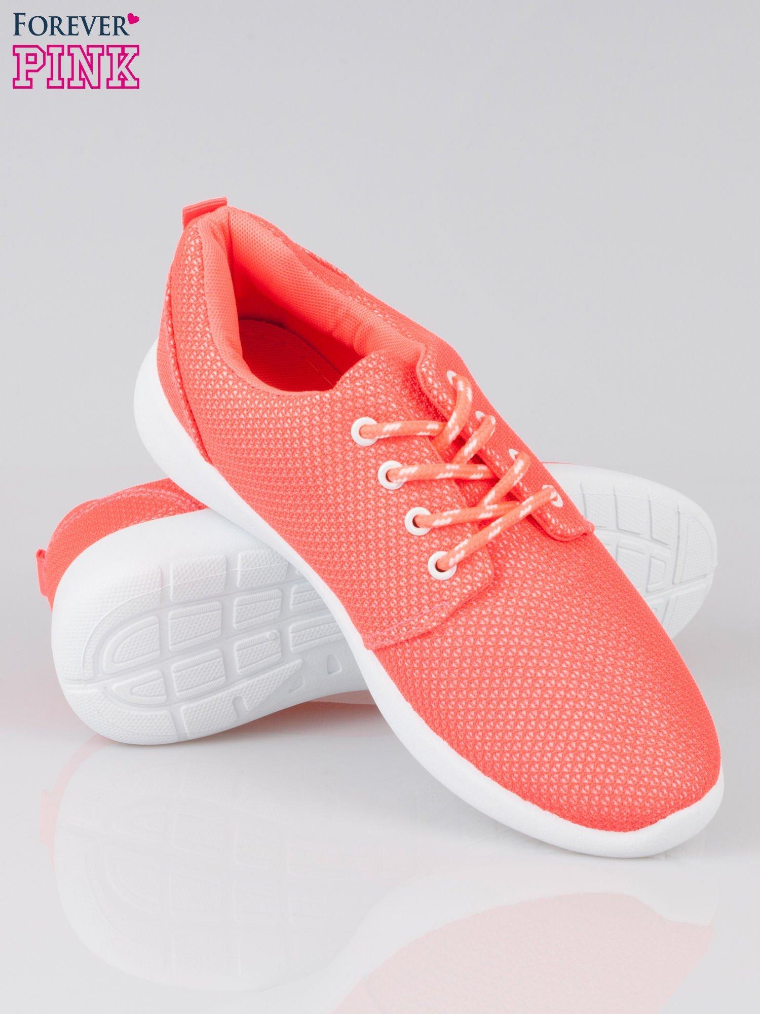 Fuksjowe buty sportowe textile Hurry Up na podeszwie typu flex                                  zdj.                                  4