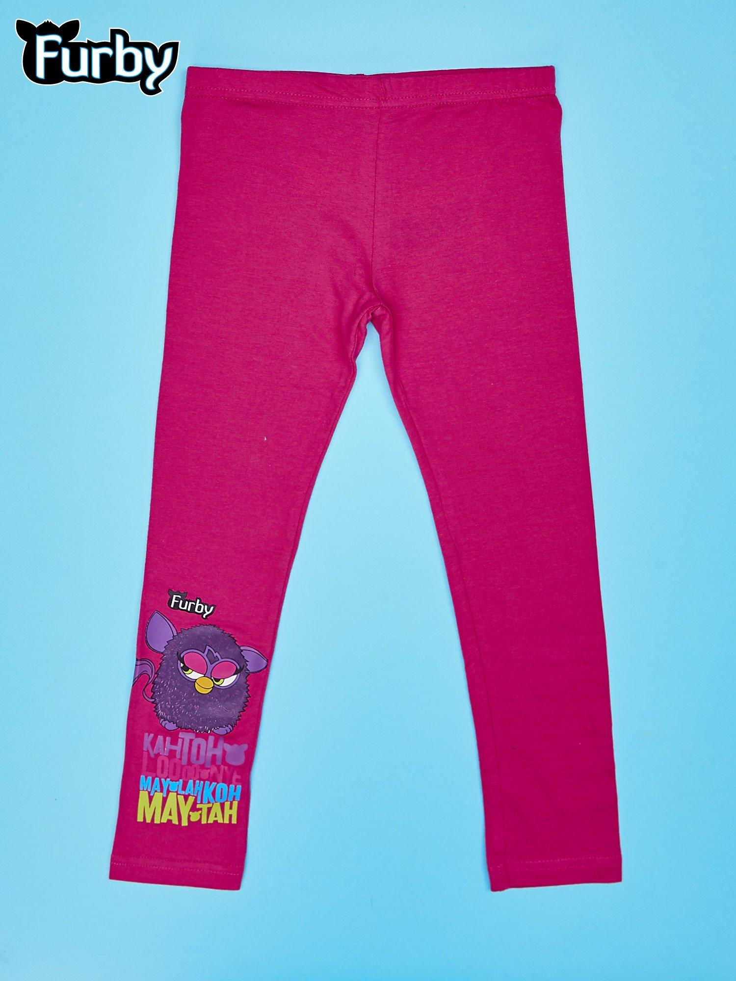 Fuksjowe legginsy dla dziewczynki nadruk FURBY                                  zdj.                                  1