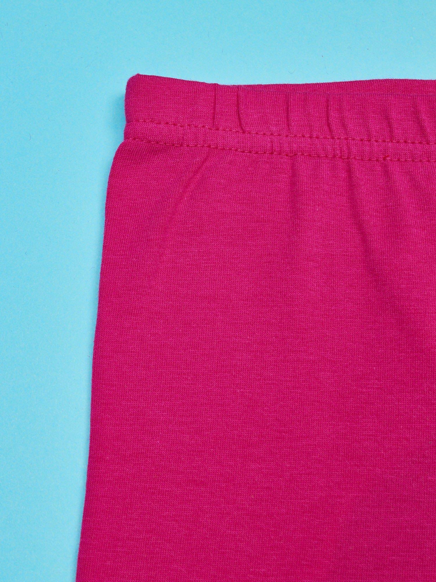 Fuksjowe legginsy dla dziewczynki z motywem FURBY                                  zdj.                                  3