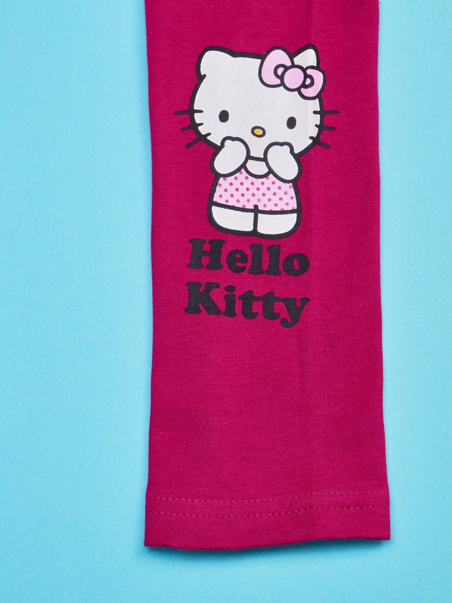 Fuksjowe legginsy dla dziewczynki z motywem HELLO KITTY                                  zdj.                                  4