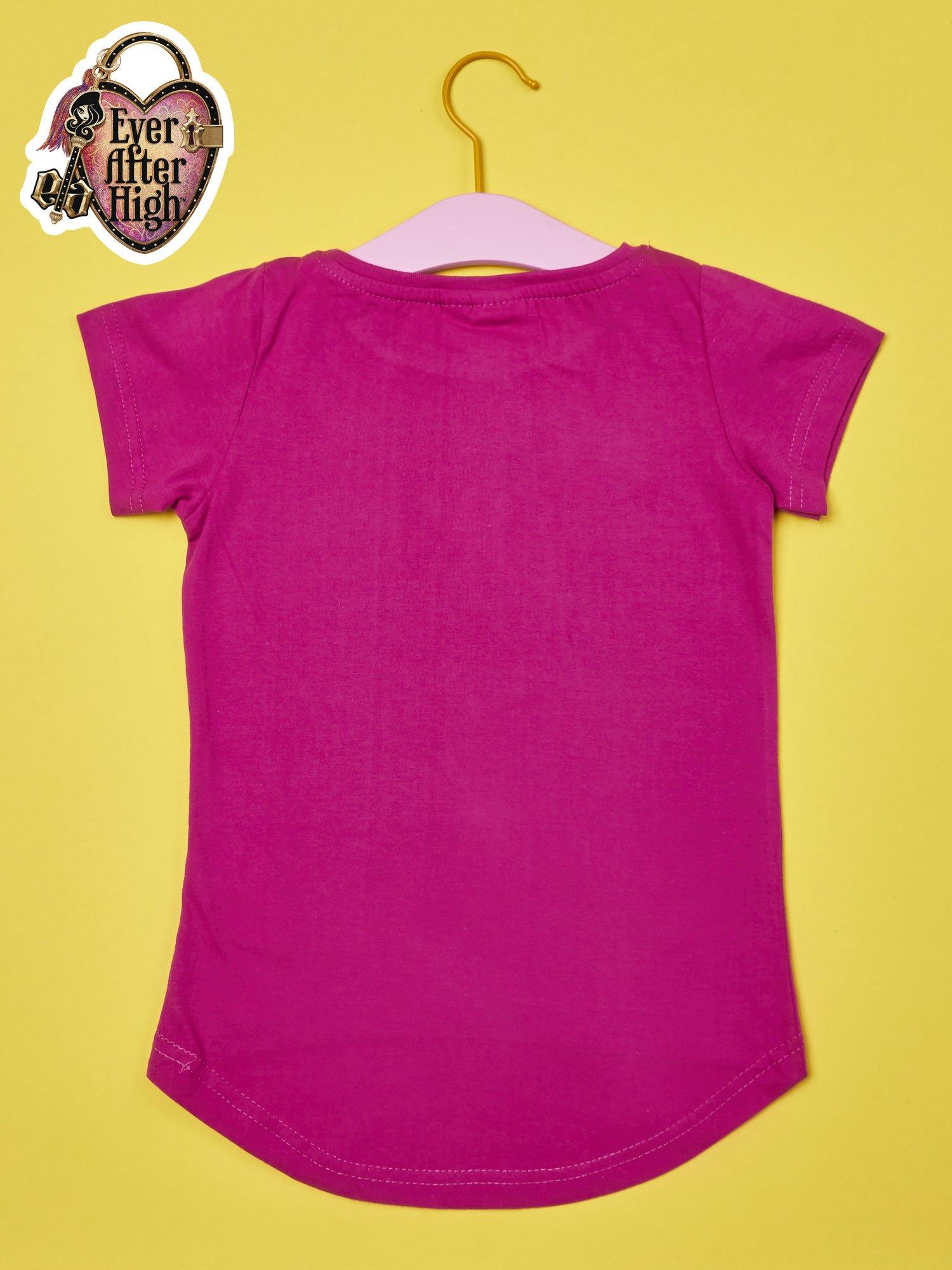 Fuksjowy t-shirt dla dziewczynki EVER AFTER HIGH                                  zdj.                                  2