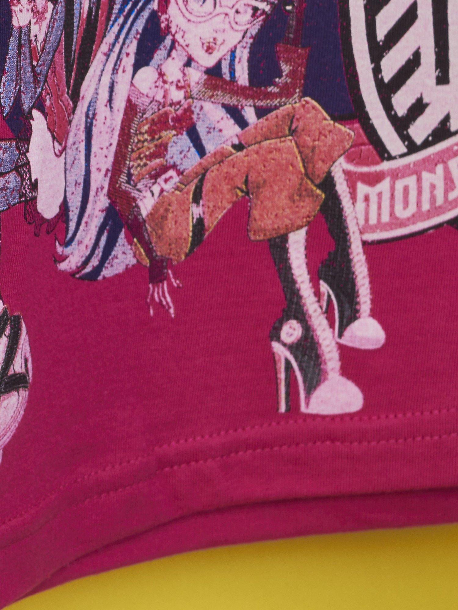 Fuksjowy t-shirt dla dziewczynki MONSTER HIGH                                  zdj.                                  7
