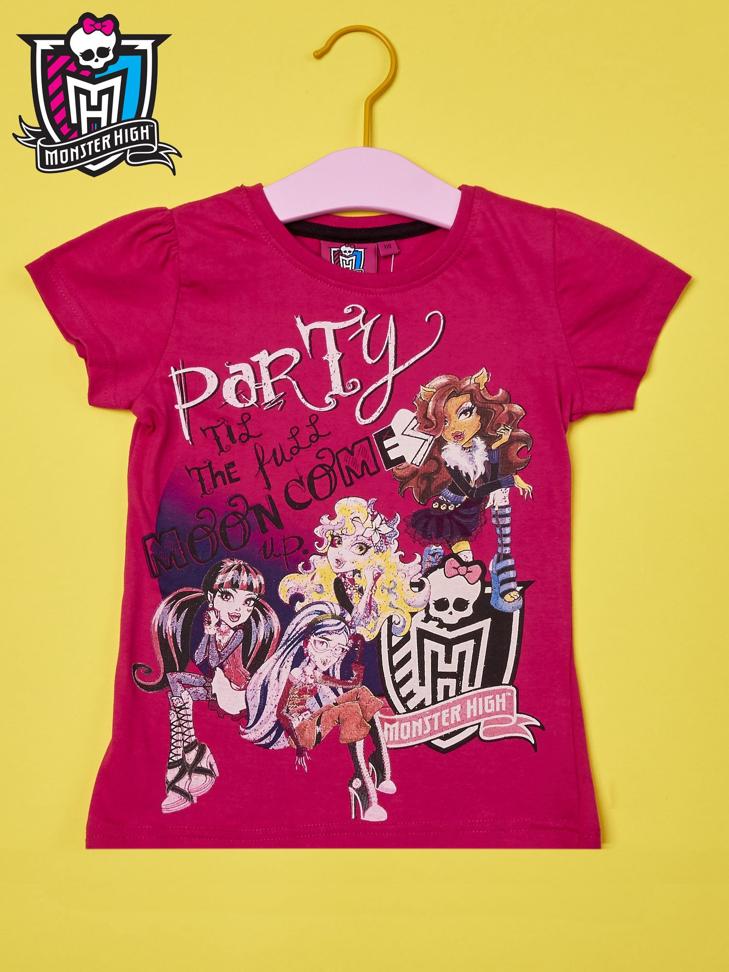 Fuksjowy t-shirt dla dziewczynki MONSTER HIGH                                  zdj.                                  1