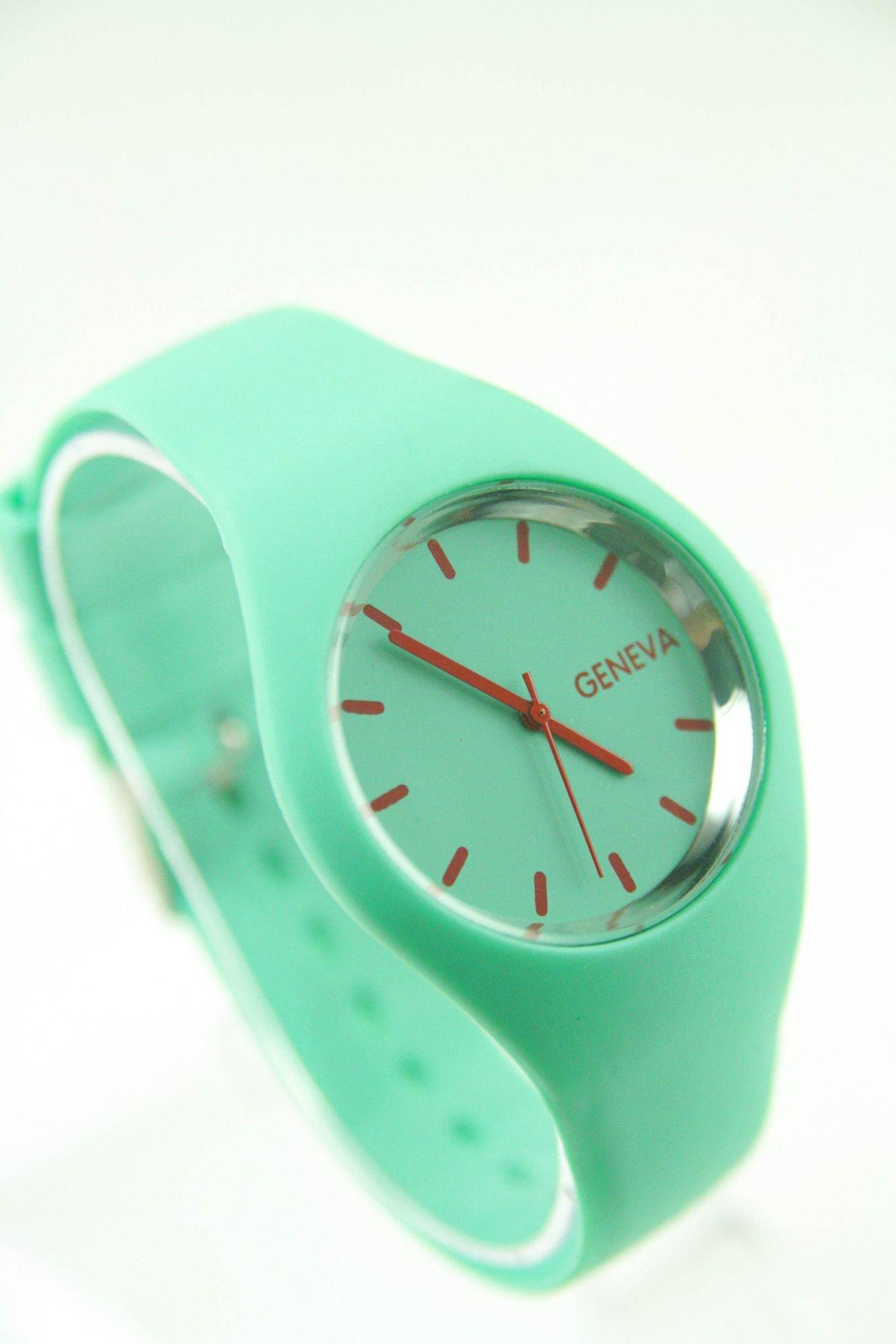 GENEVA Miętowy zegarek damski na silikonowym pasku                                  zdj.                                  2