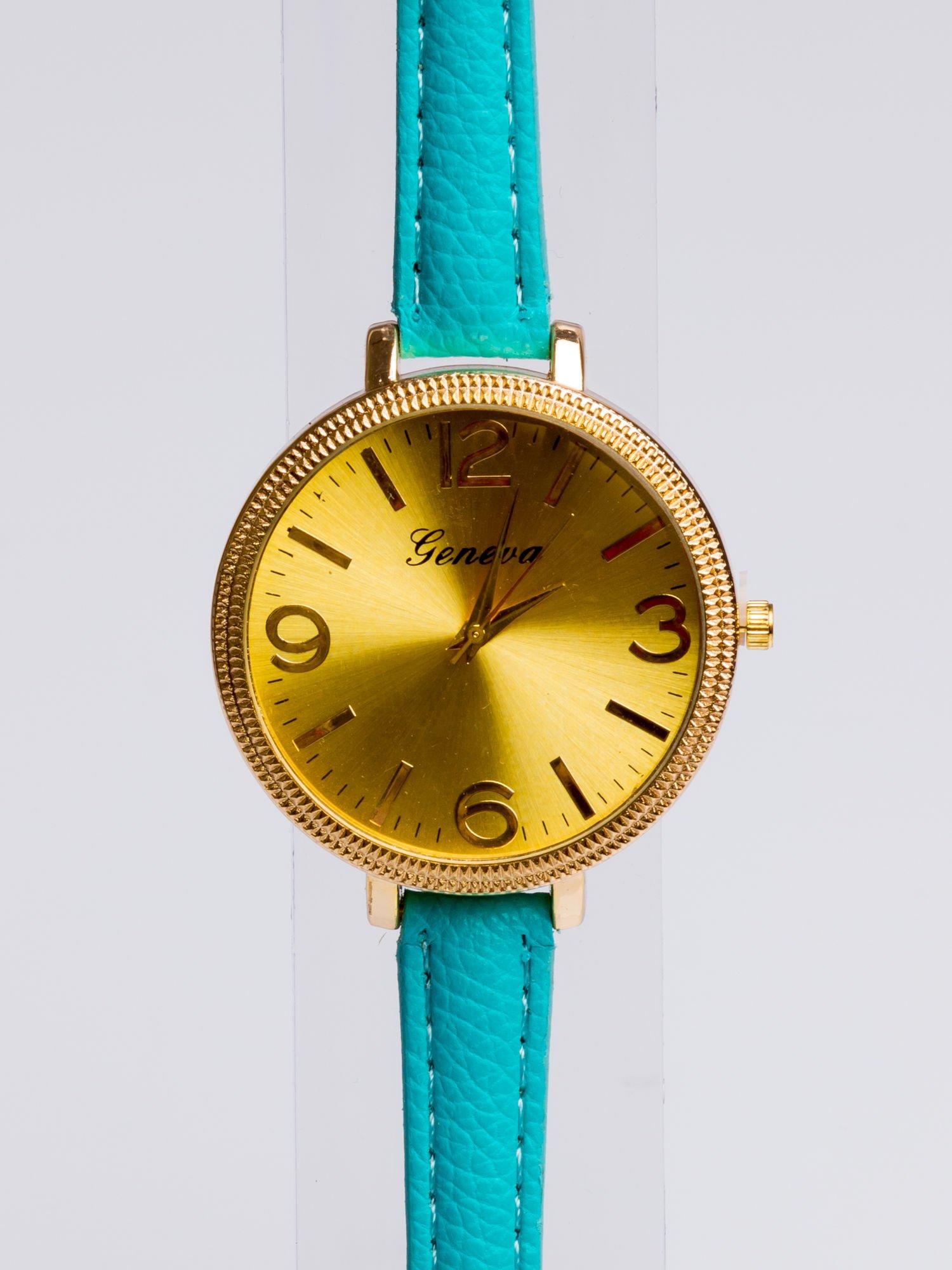 GENEVA Modny zegarek damski z dużą tarczą na wąskim pasku                                  zdj.                                  2