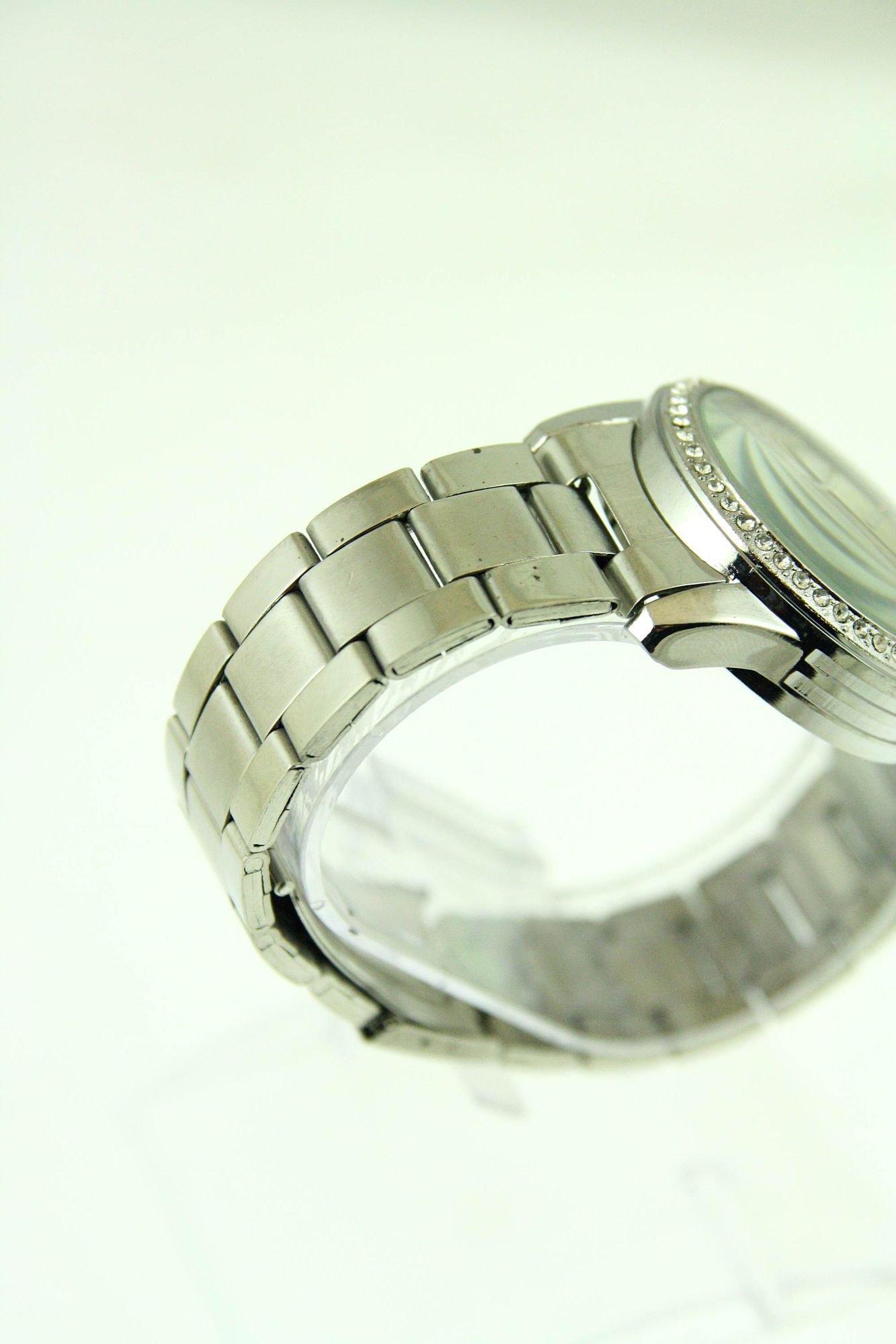 GENEVA Srebrny  zegarek damski z cyrkoniami na bransolecie                                  zdj.                                  2