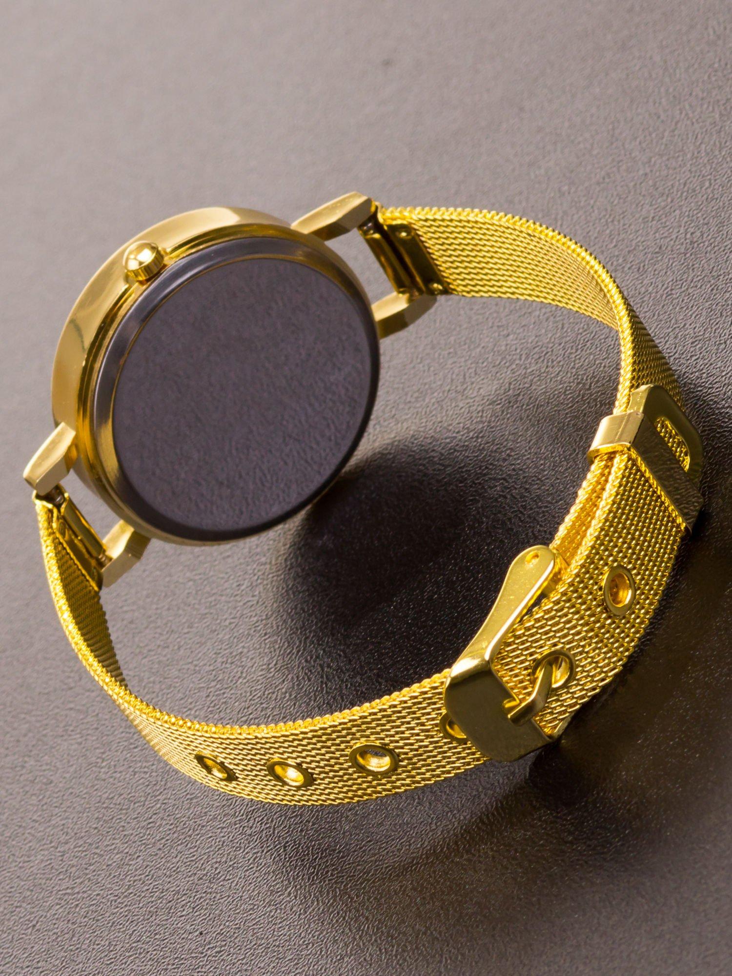 GENEVA Złoty prosty zegarek damski na bransolecie                                  zdj.                                  5