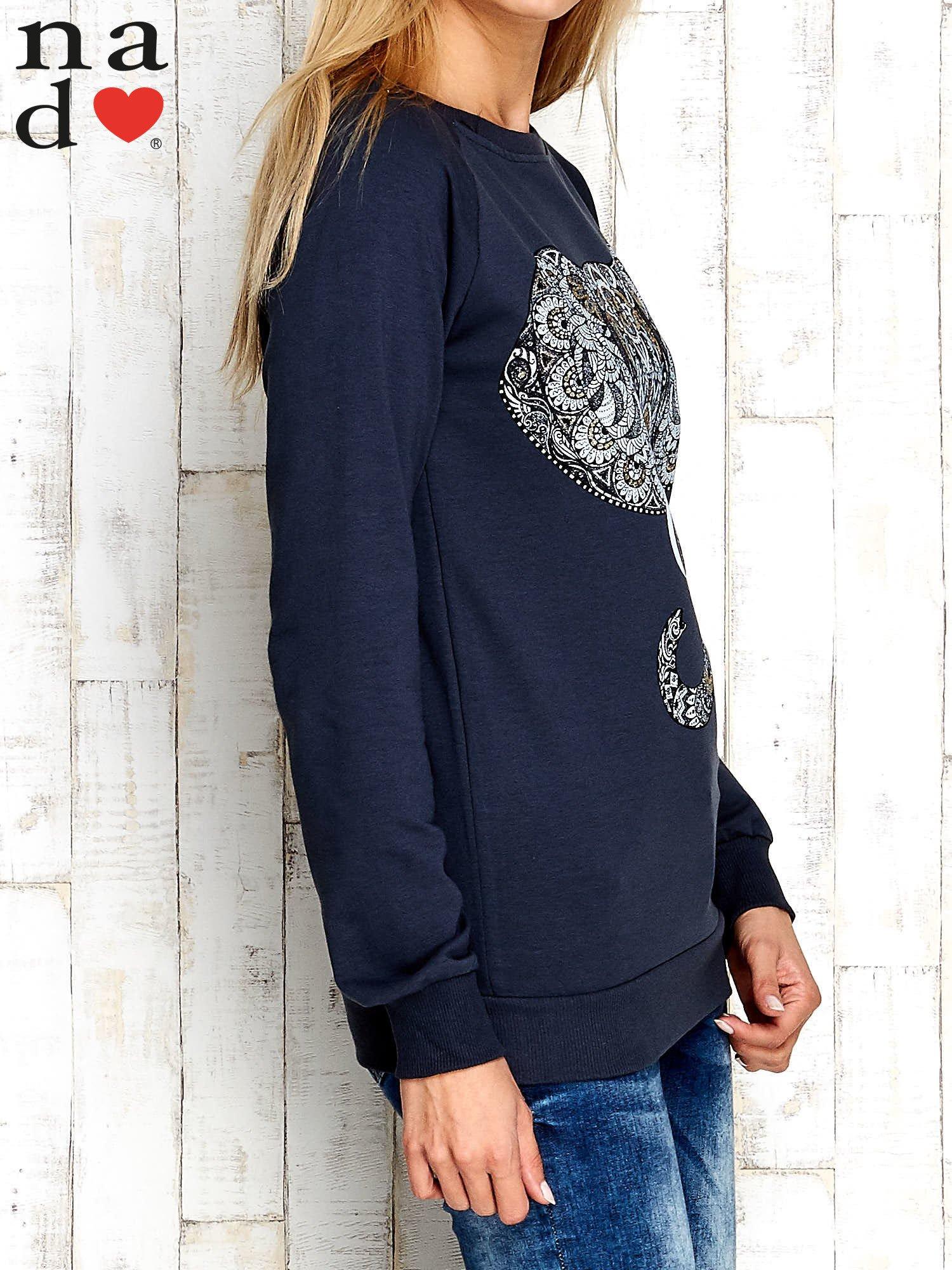 Grafitowa bluza z nadrukiem słonia                                  zdj.                                  3