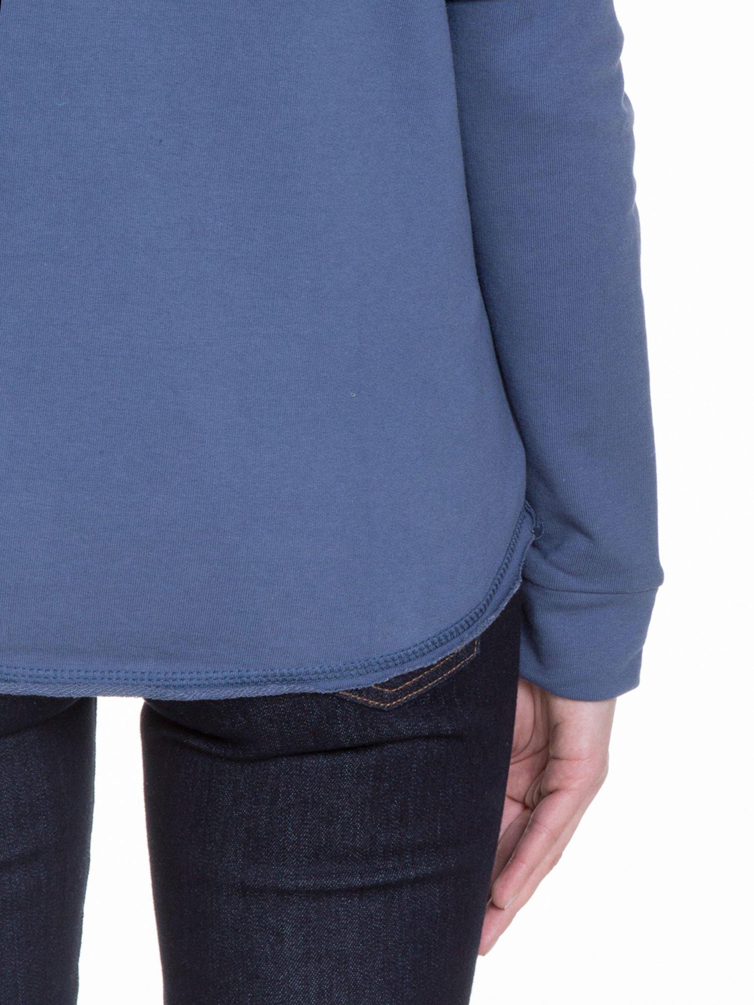 Granatowa bluza z dżetami czaszkami                                  zdj.                                  8