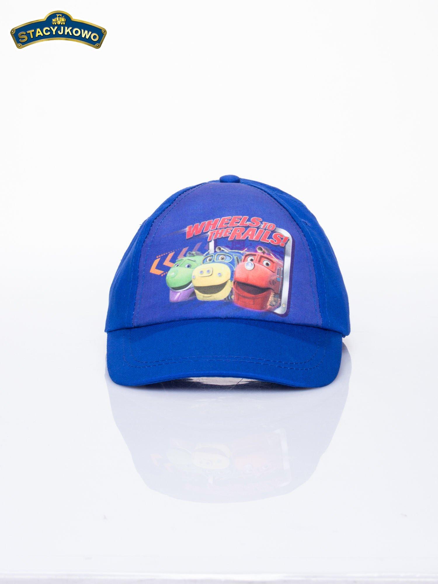 Granatowa chłopięca czapka z daszkiem STACYJKOWO                                  zdj.                                  1