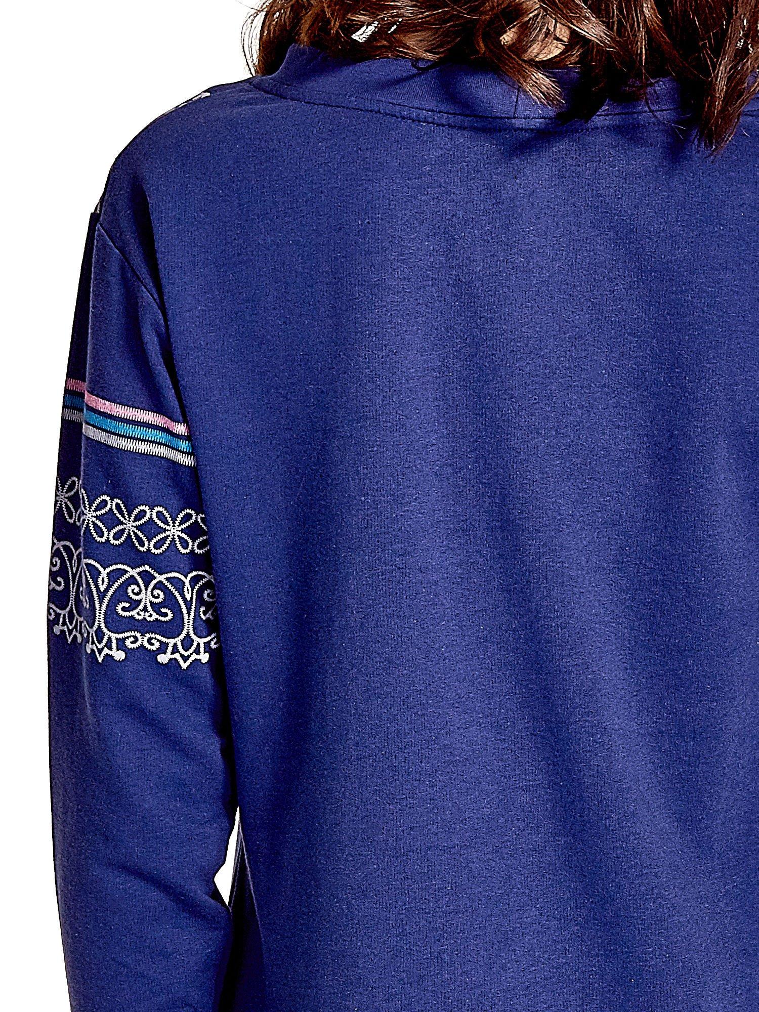 Granatowa tunika w orientalne wzory                                  zdj.                                  5