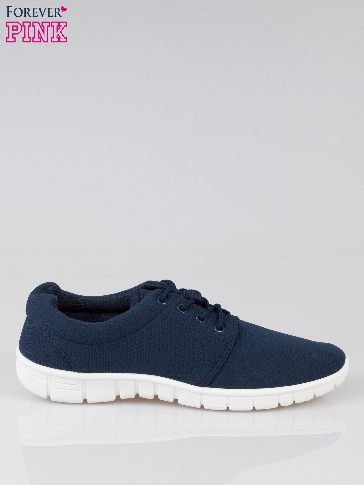 Granatowe buty sportowe textile Superior na podeszwie flex                                  zdj.                                  1