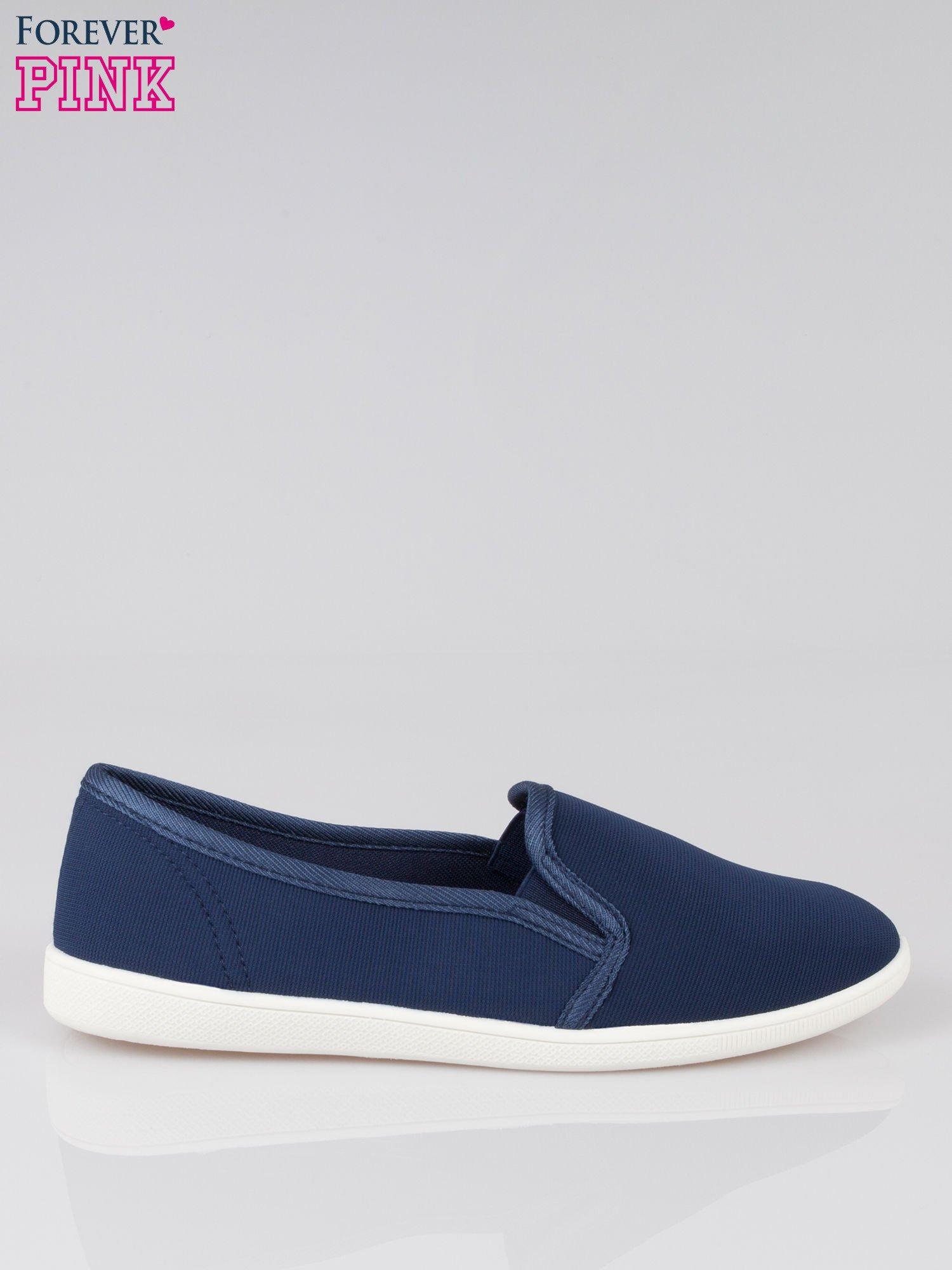Granatowe lekkie buty sliponki                                  zdj.                                  1