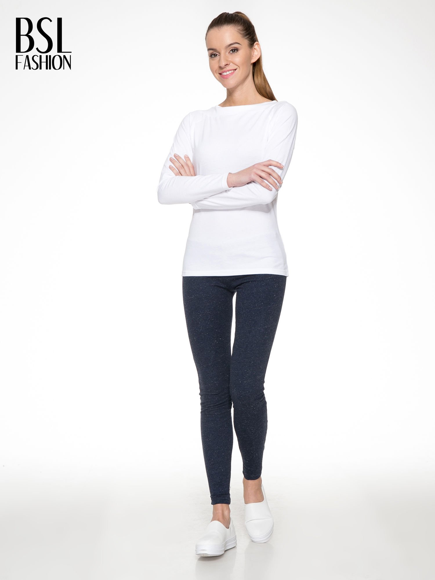 Granatowe melanżowe legginsy                                  zdj.                                  2