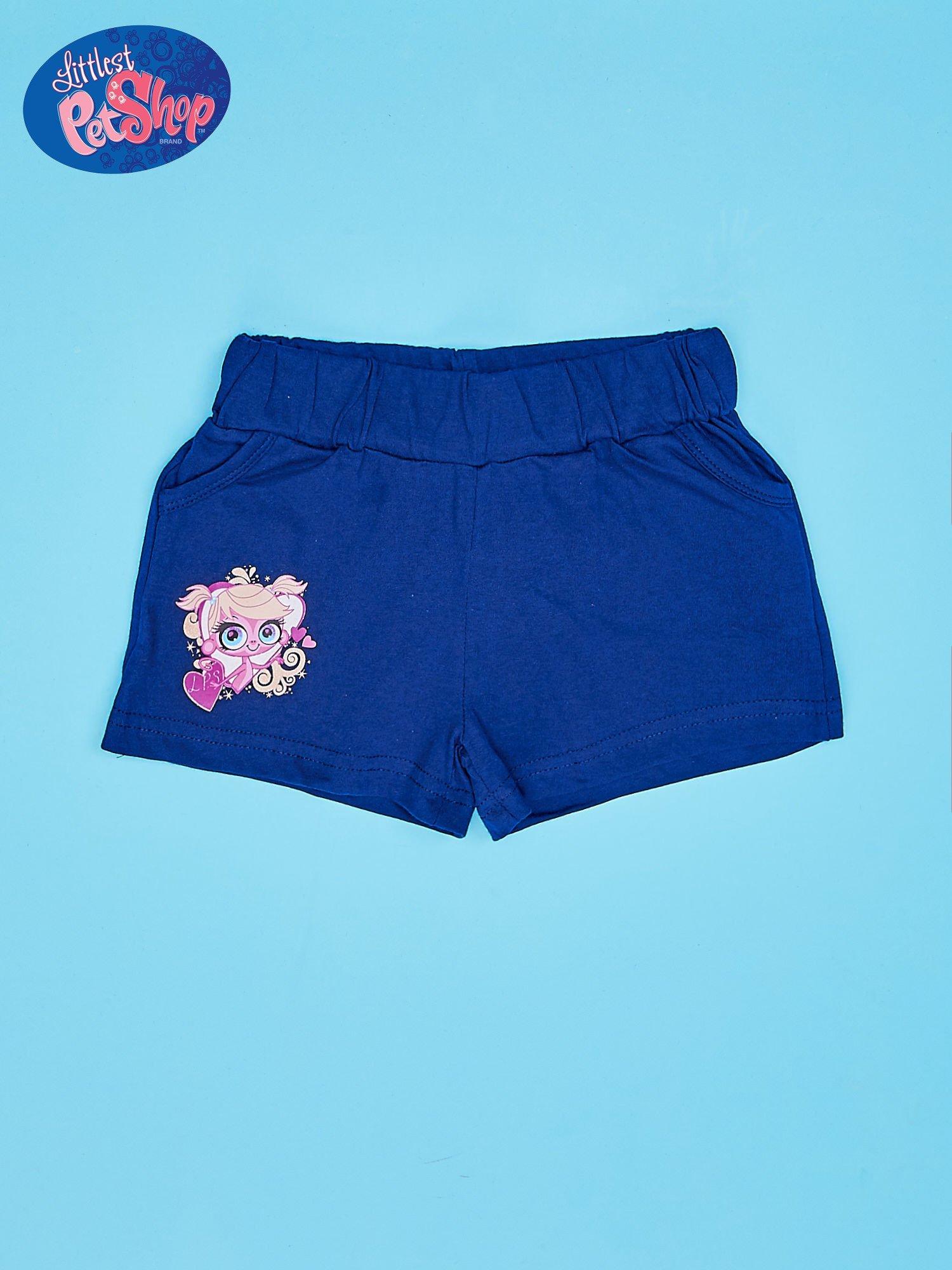 Granatowe szorty dla dziewczynki LITTLEST PET SHOP                                  zdj.                                  1