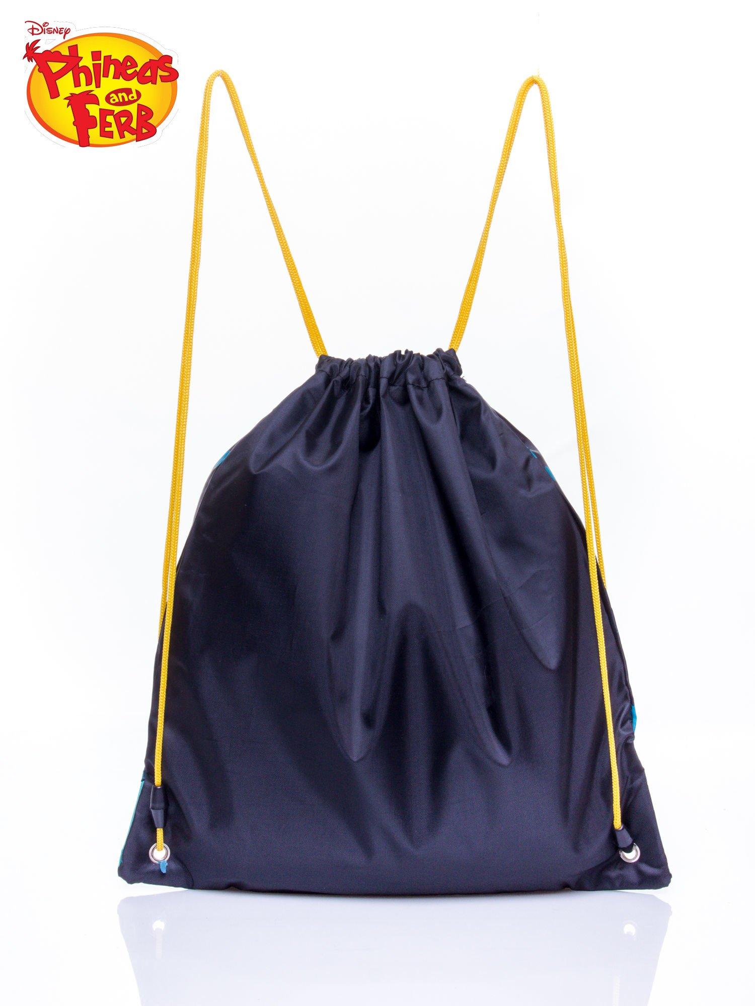 Granatowy plecak worek DISNEY Fineasz i Ferb                                   zdj.                                  2
