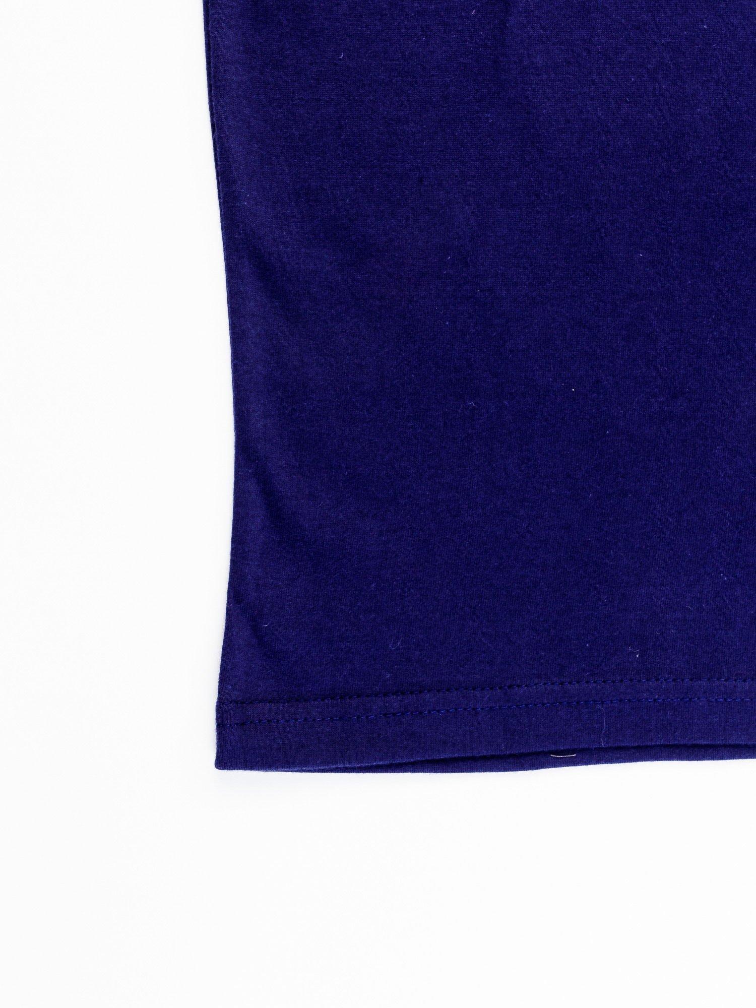 Granatowy t-shirt męski MAN OF STEEL                                  zdj.                                  11