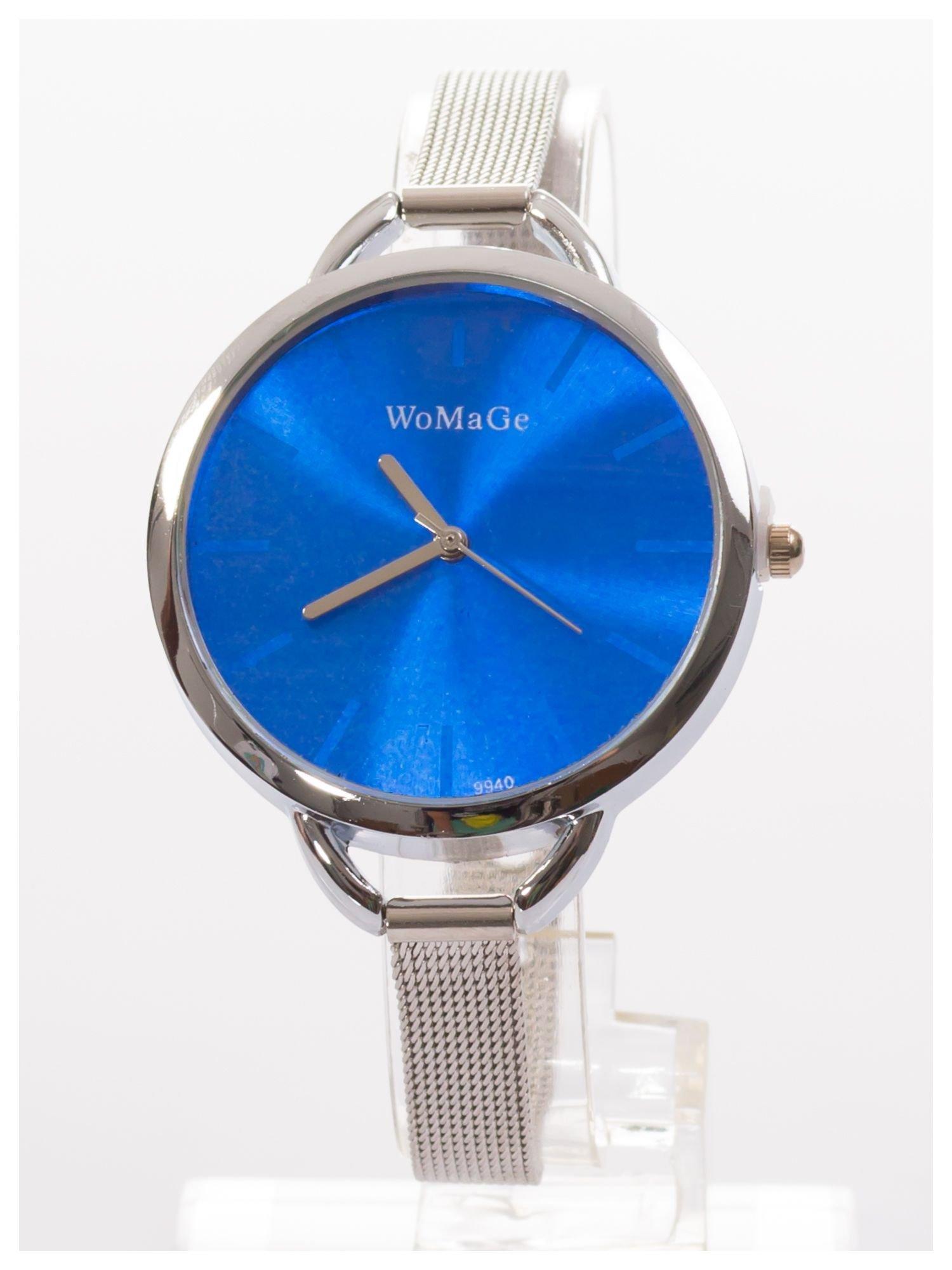 Granatowy zegarek damski na bransolecie                                  zdj.                                  1