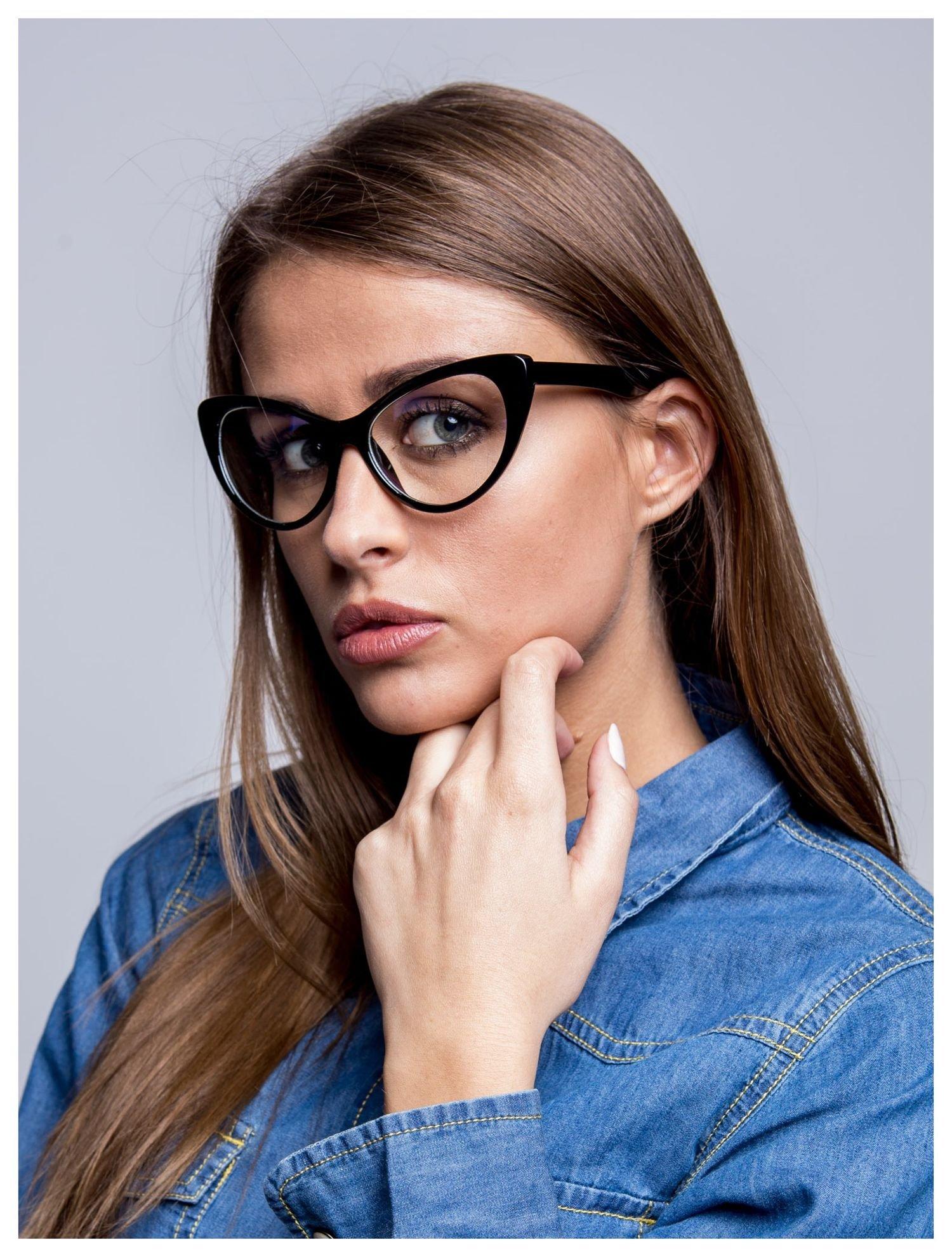 HIT 2016 Modne okulary zerówki typu KOCIE OCZY w stylu Marlin Monroe- soczewki ANTYREFLEKS+system FLEX na zausznikach                                  zdj.                                  1