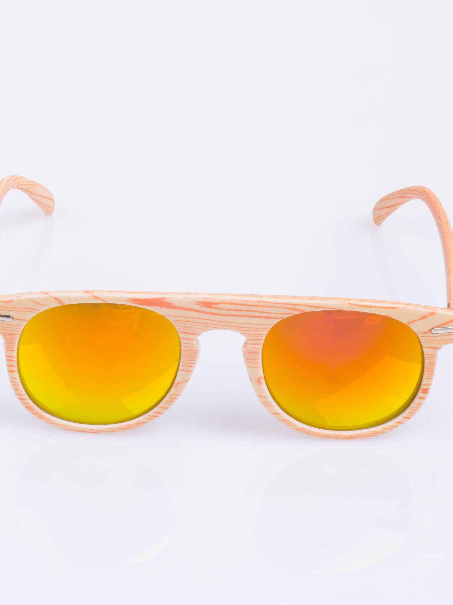 HIT 2016 drewniane okulary RETRO lustrzanka                                  zdj.                                  3