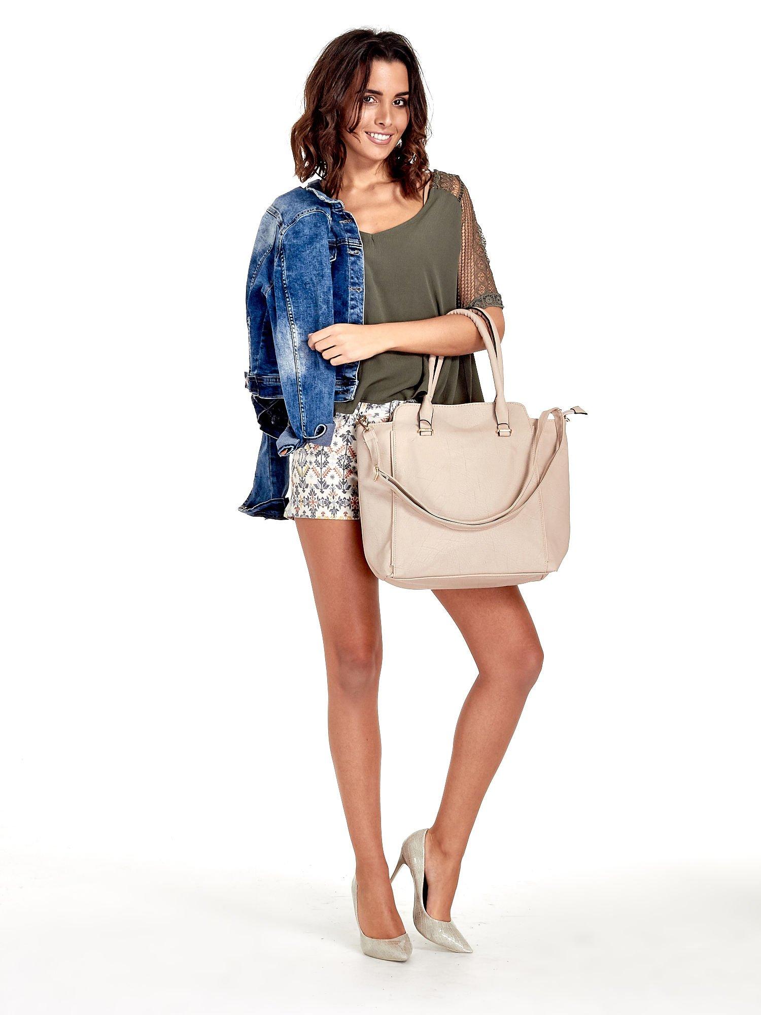 Jasnobeżowa torba shopper bag                                  zdj.                                  12