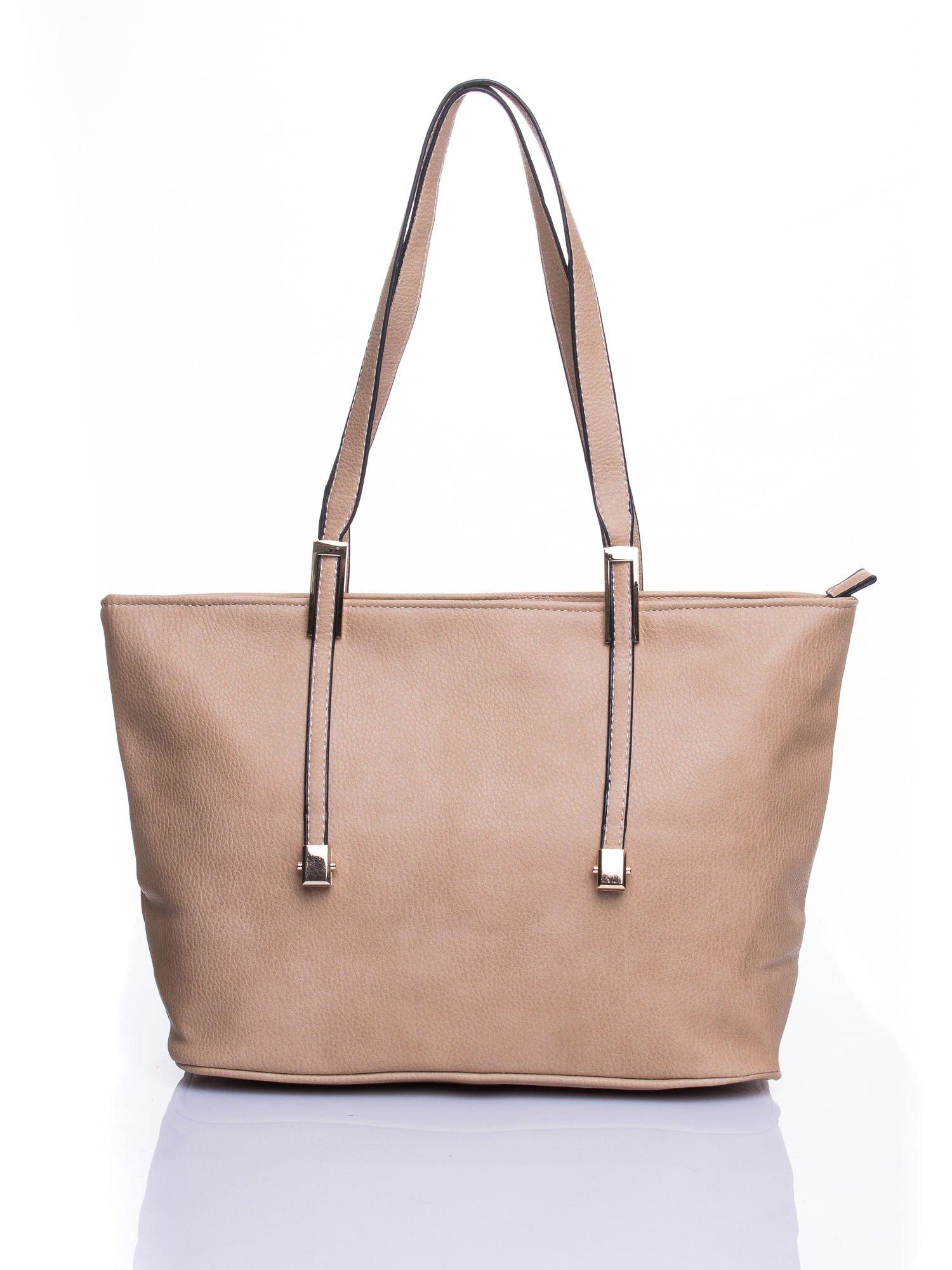 Jasnobrązowa prosta torba shopper bag                                  zdj.                                  1