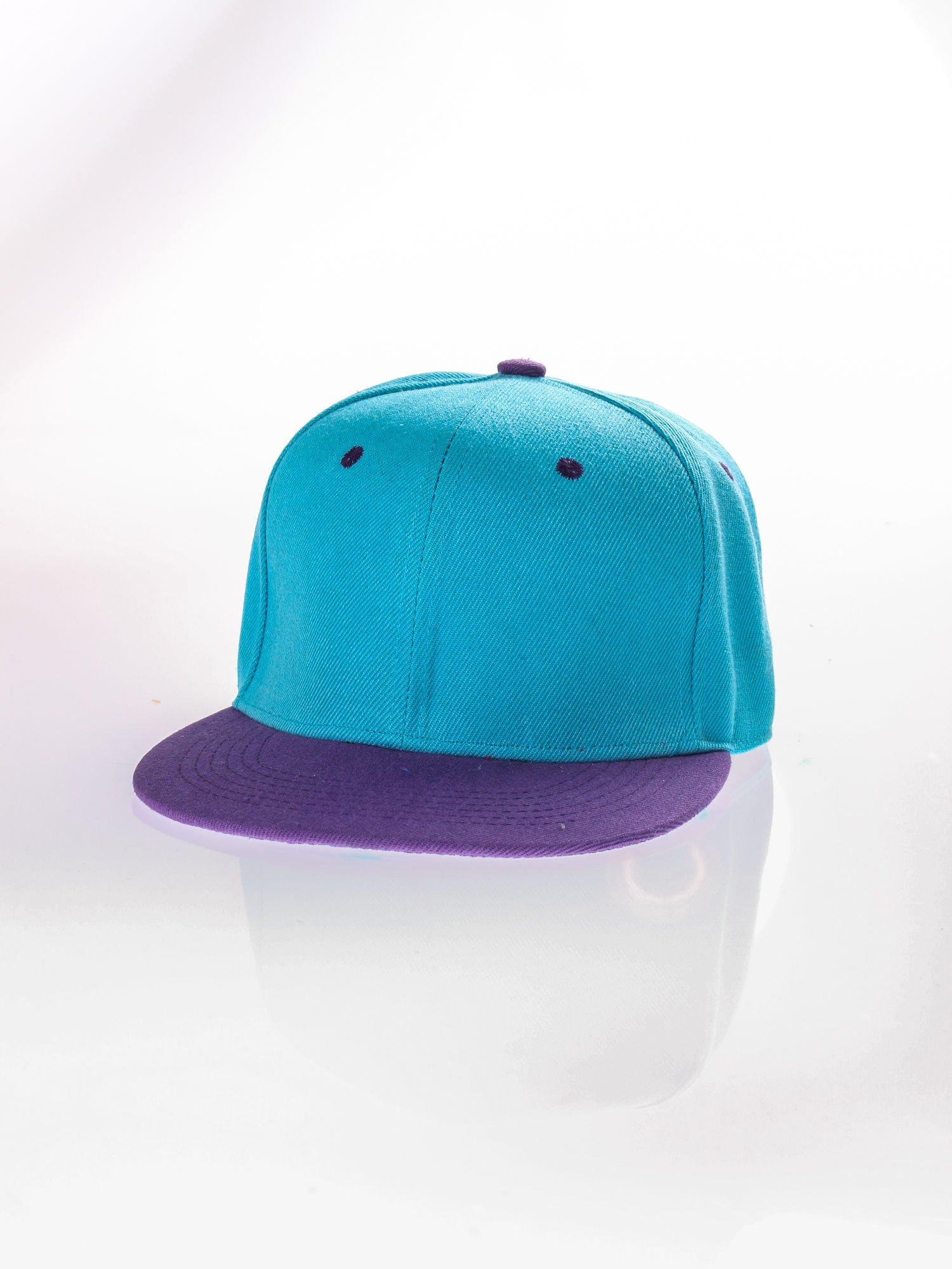 Jasnoniebieska czapka z daszkiem fullcap                                  zdj.                                  2