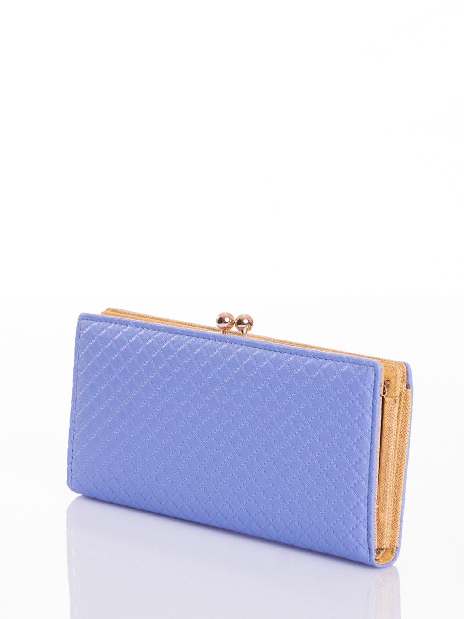 Jasnoniebieski elegancki portfel na bigiel                                  zdj.                                  2