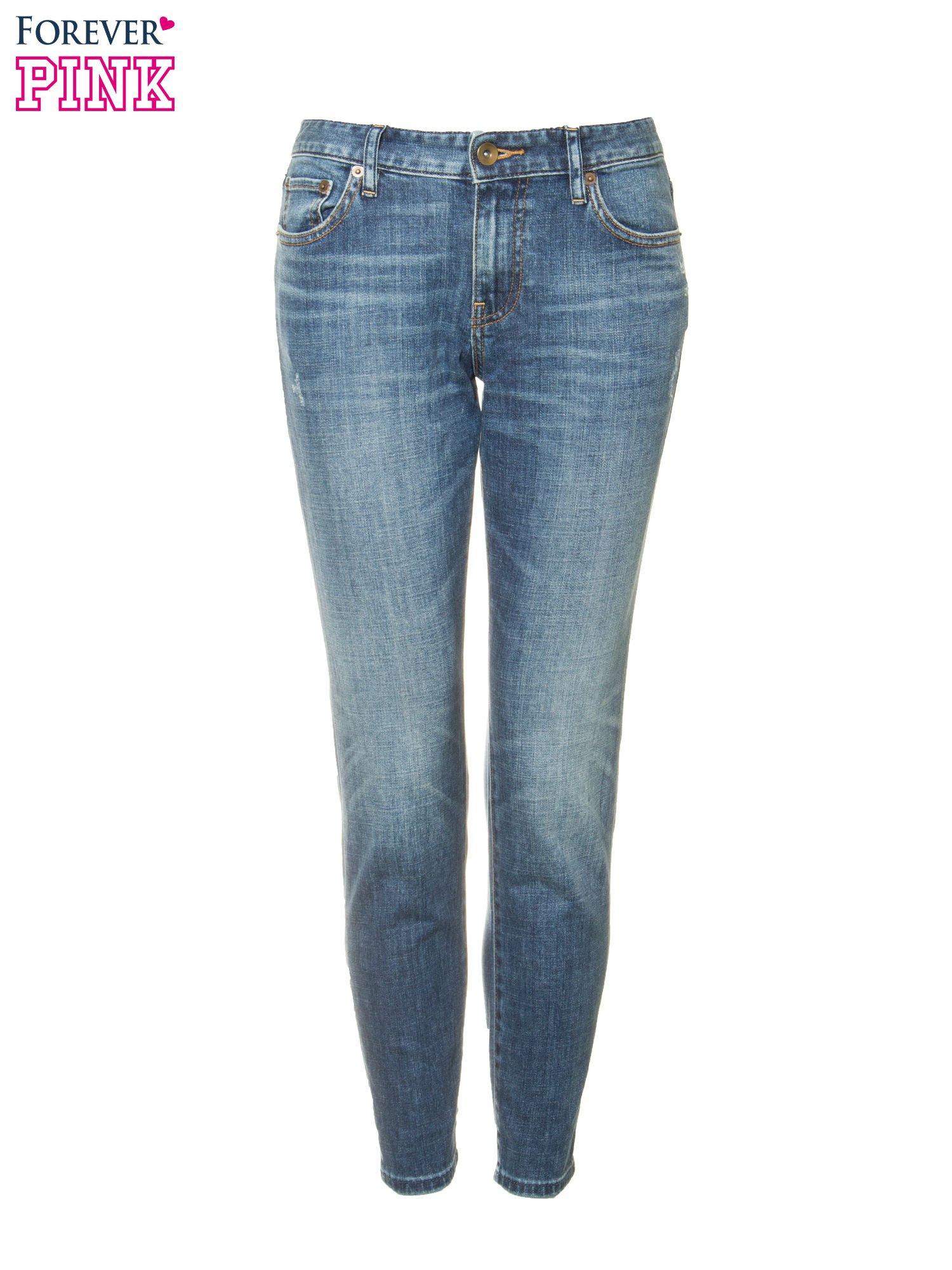Jasnoniebieskie spodnie girlfriend jeans z cieniowaniem                                  zdj.                                  5