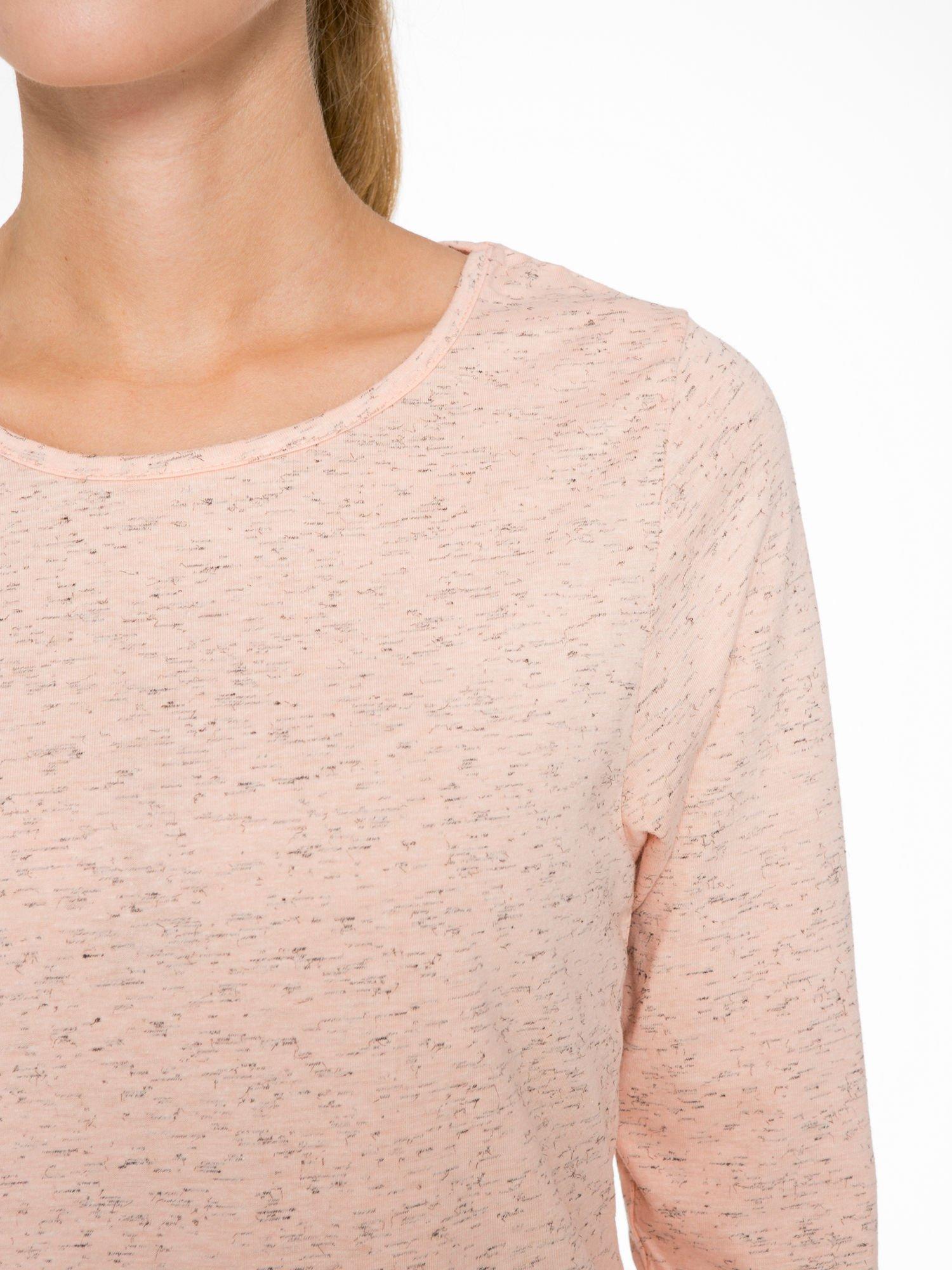 Jasnoróżowa melanżowa bluzka z rękawami 3/4                                  zdj.                                  6