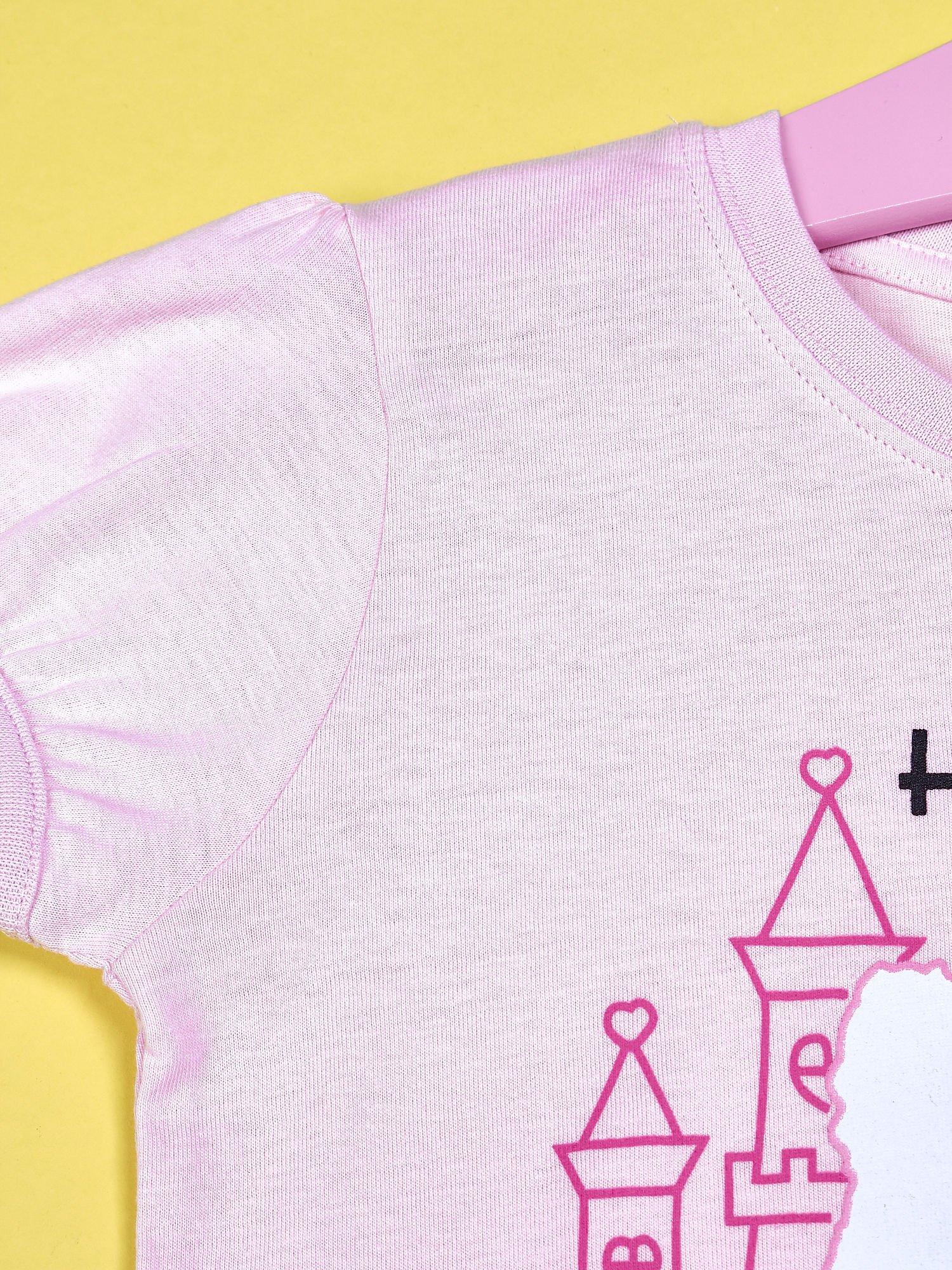 Jasnoróżowy t-shirt dla dziewczynki HELLO KITTY                                  zdj.                                  3