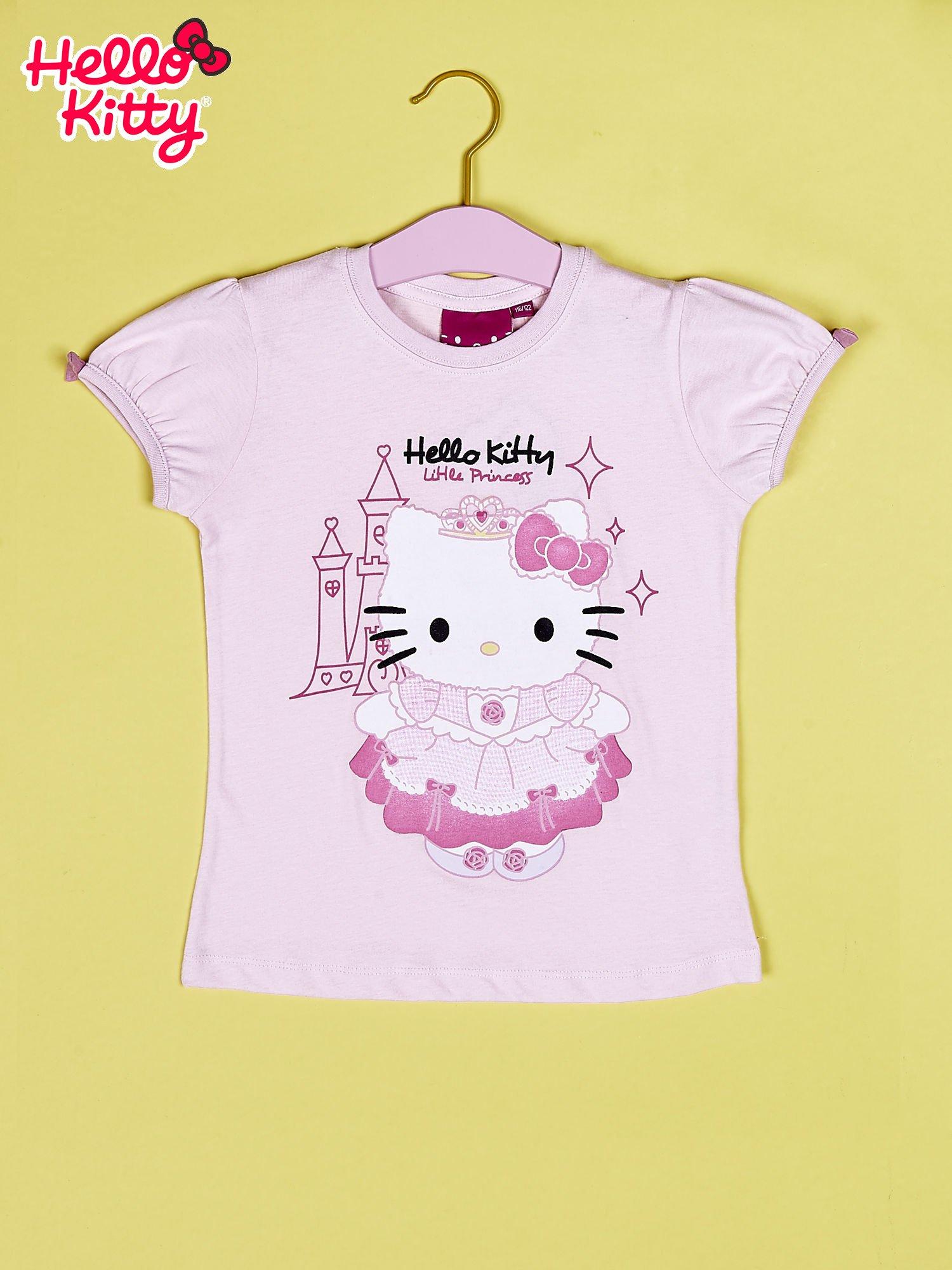 Jasnoróżowy t-shirt dla dziewczynki HELLO KITTY                                  zdj.                                  1