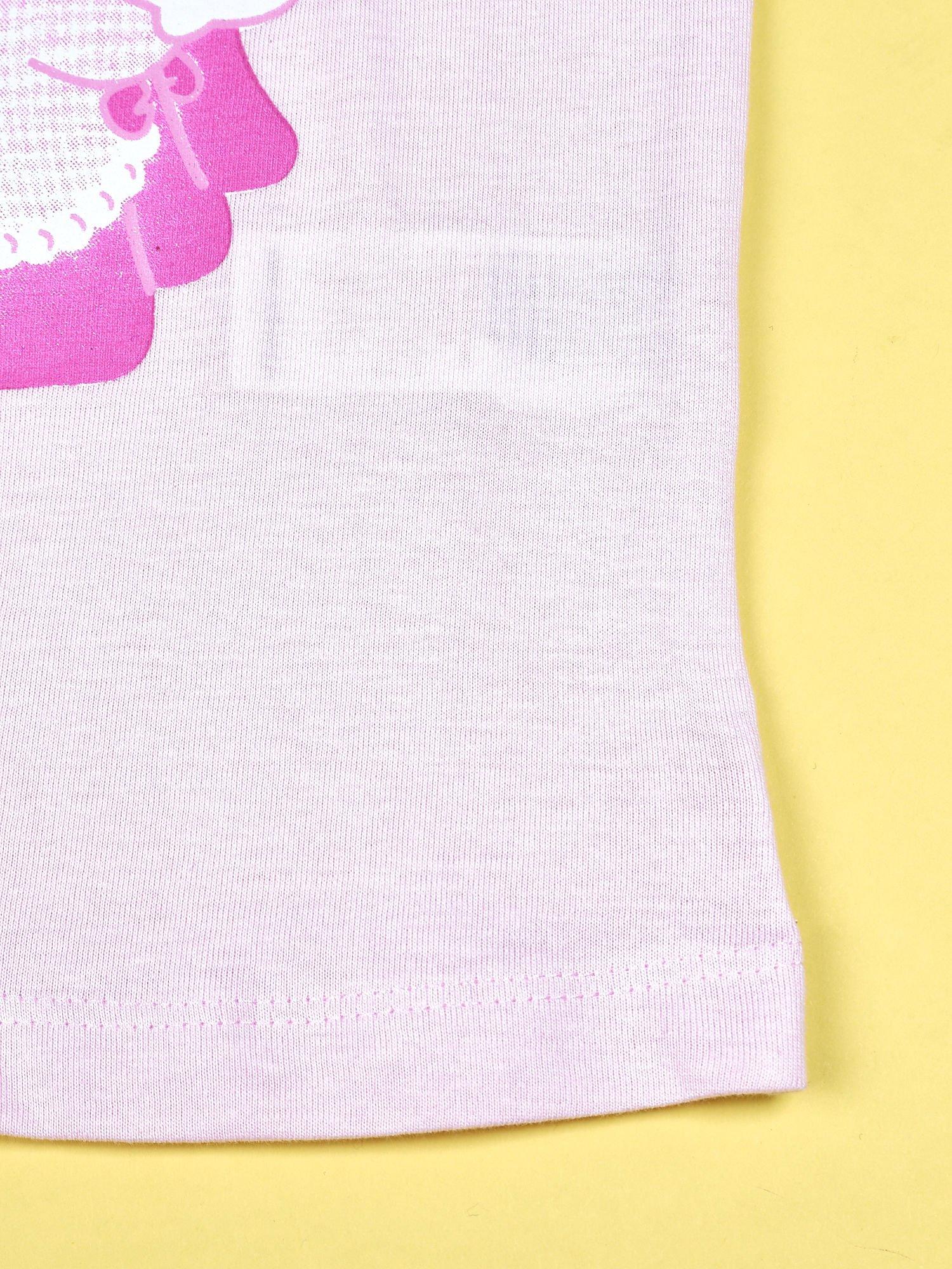 Jasnoróżowy t-shirt dla dziewczynki HELLO KITTY                                  zdj.                                  5