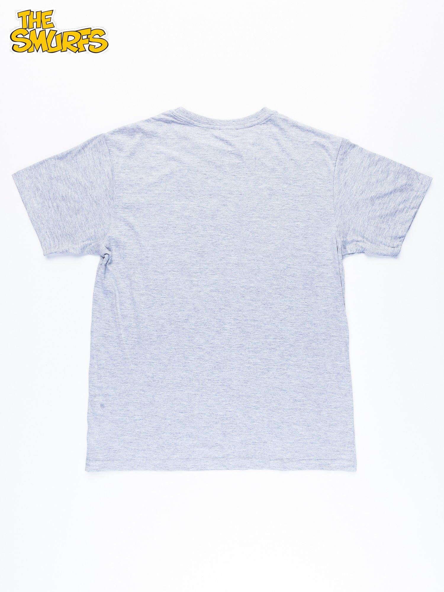Jasnoszary t-shirt męski SMERFY                                  zdj.                                  10