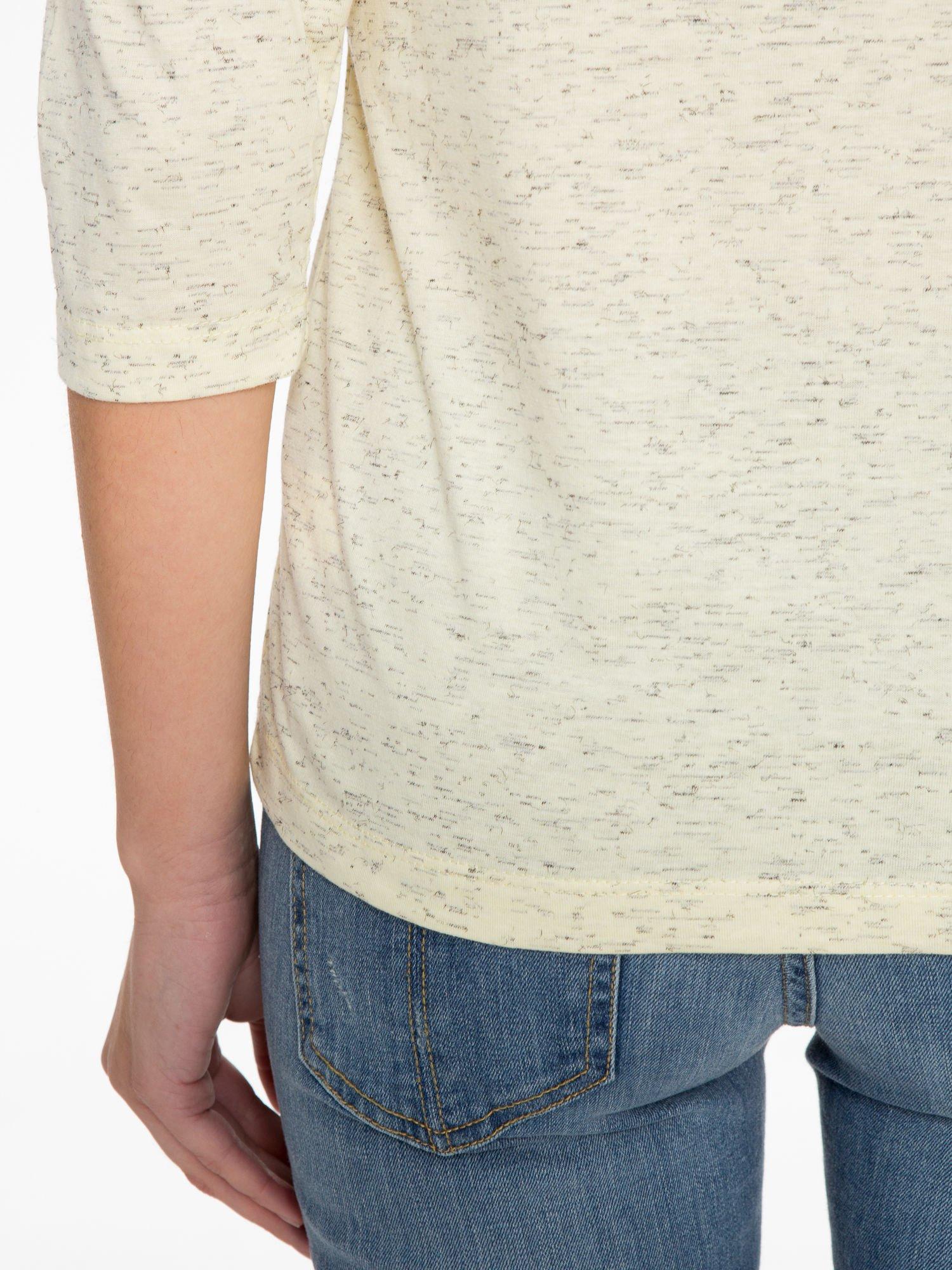 Jasnożółta melanżowa bluzka z rękawami 3/4                                  zdj.                                  8