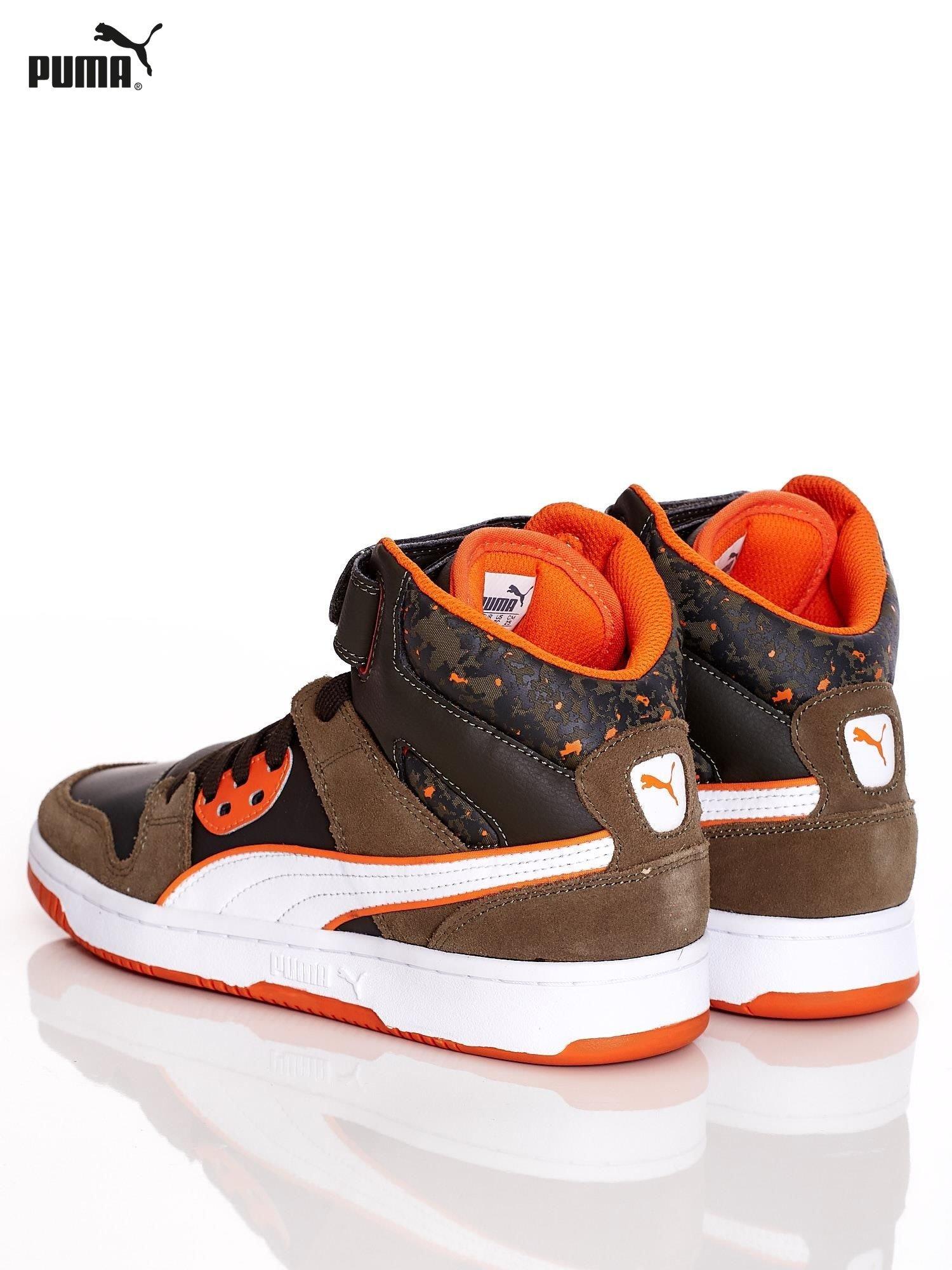 Khaki skrzane buty PUMA Rebound Street Wcamo Jr