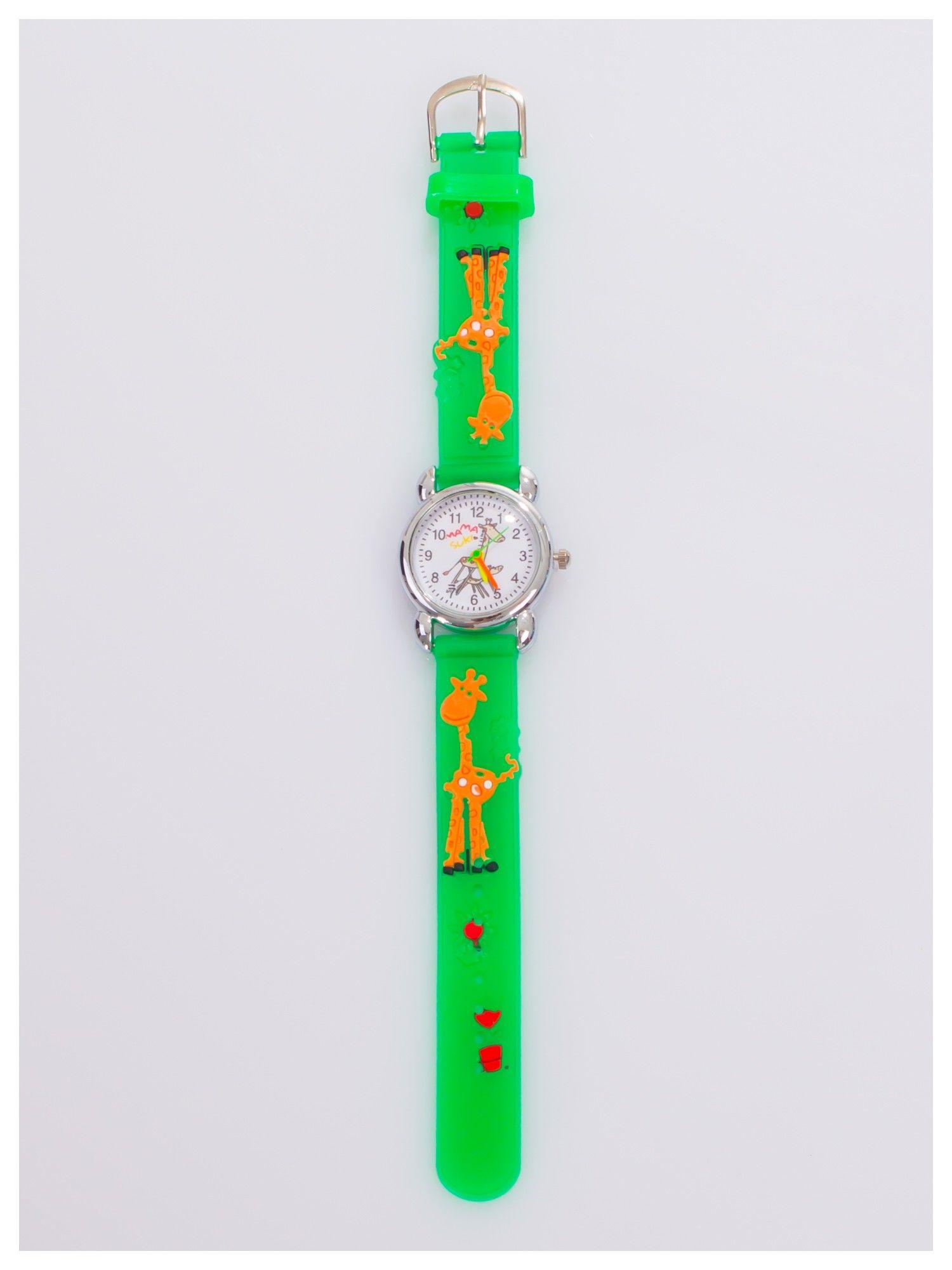 Kolorowy zegarek dziecięcy na wygodnym silikonowym pasku                                  zdj.                                  2